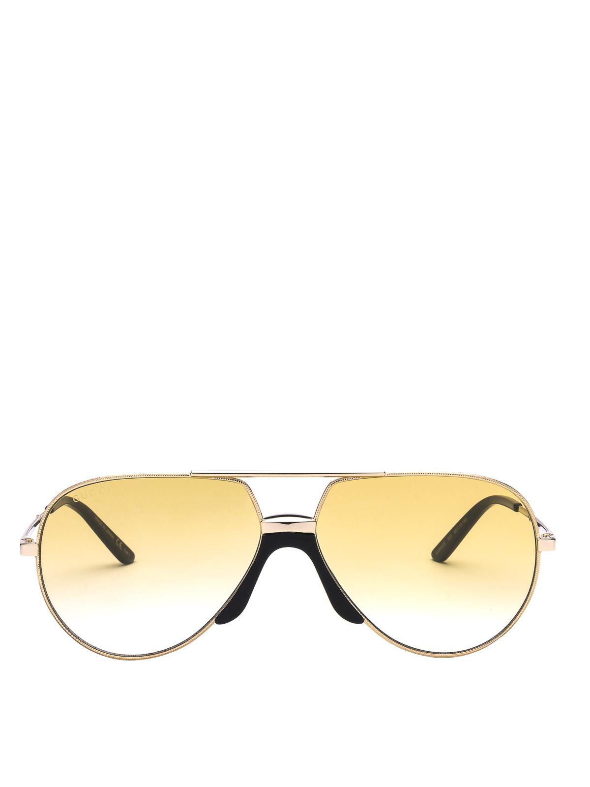 5d9f59ec92e10 iKRIX GUCCI  sunglasses - Aviator sunglasses with black acetate details