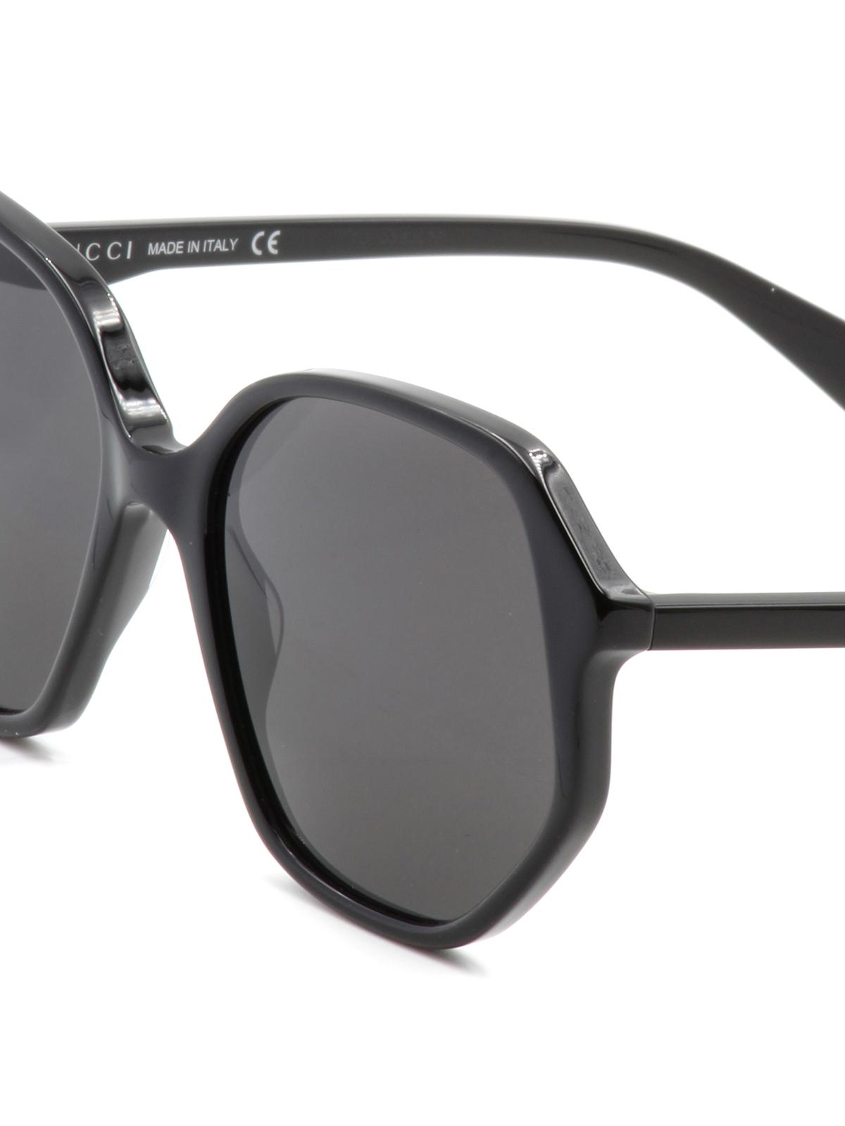 3dd25ac69 Gucci - Black geometric sunglasses - sunglasses - GG0258S1 |  www.artofmikemignola.com. Blog da LebehPromoção Black Friday: Bolsa Gucci  Preta Bambu ...
