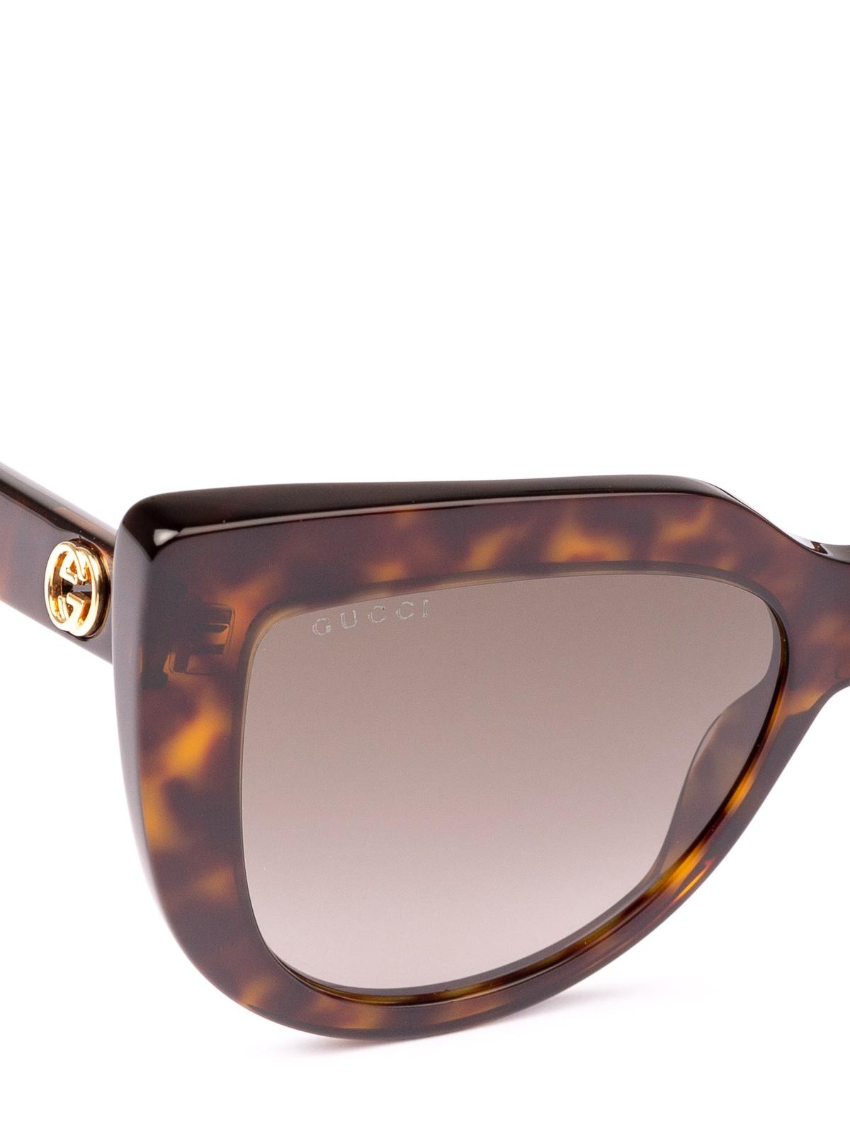b6073de2ae6 Gucci - Dark havana cat eye sunglasses - sunglasses - GG0164S 002