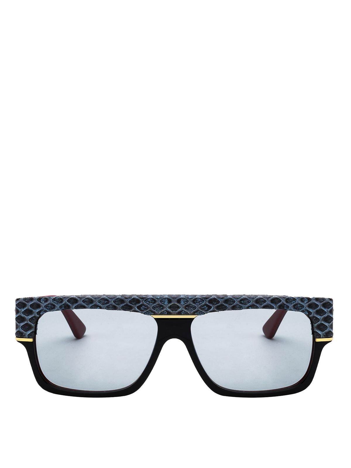 cf5c9d21e65a0 Gucci - Grey python print acetate sunglasses - sunglasses - GG0483S005
