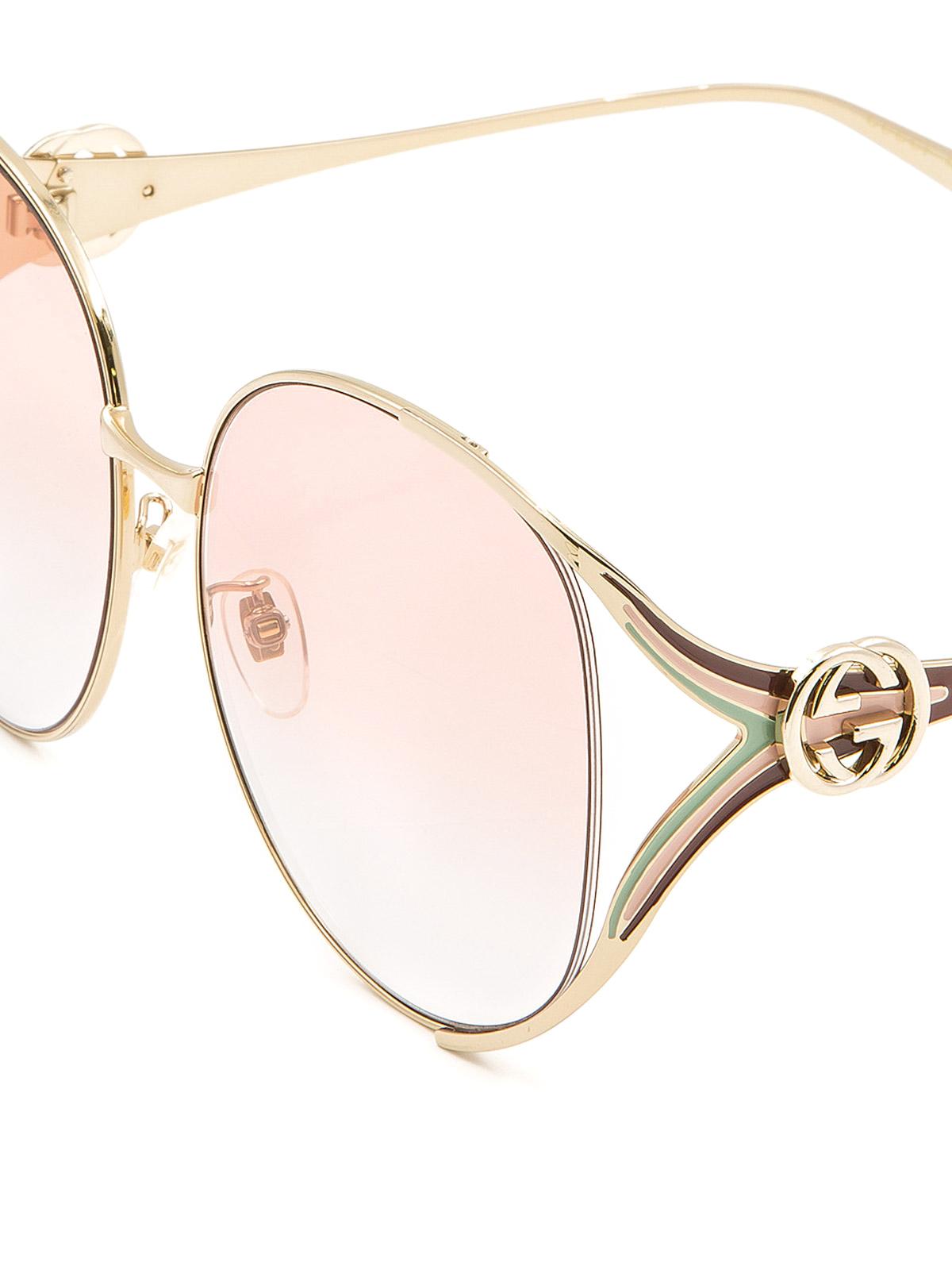 Gucci - Round slim metal frame sunglasses - sunglasses - GG0225S5