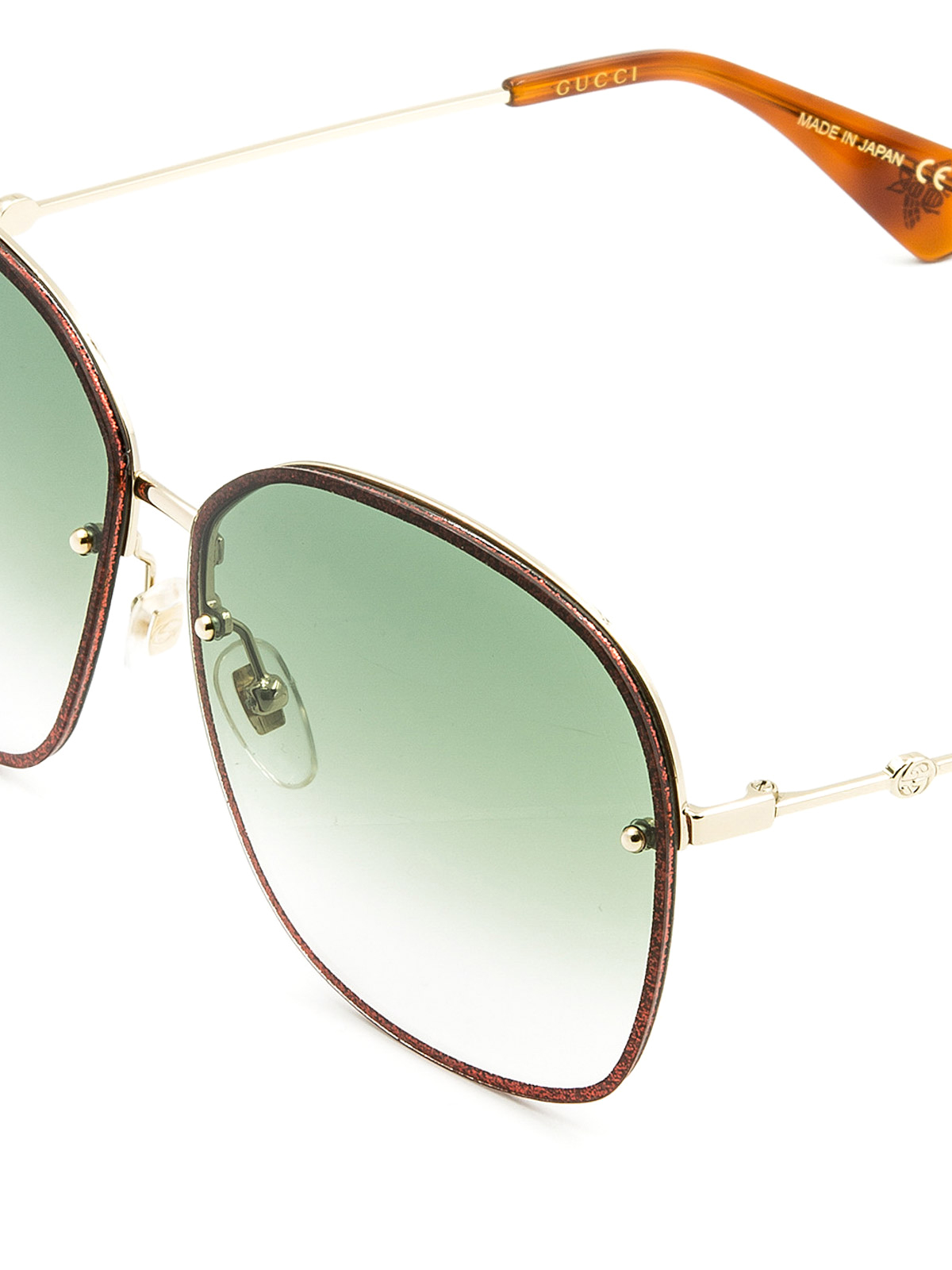 eff845584d5 Gucci - Square glitter frame sunglasses - sunglasses - GG0228S1