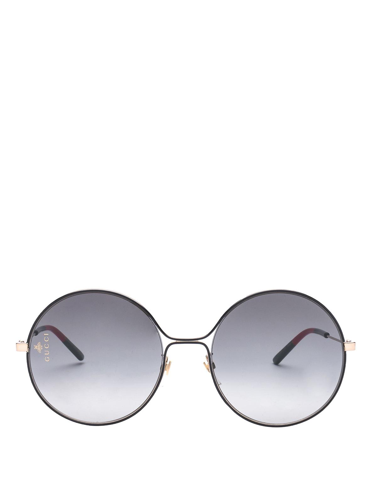ad214f06de3 Gucci - Web tips metal round sunglasses - عینک آفتابی - GG0395S C001