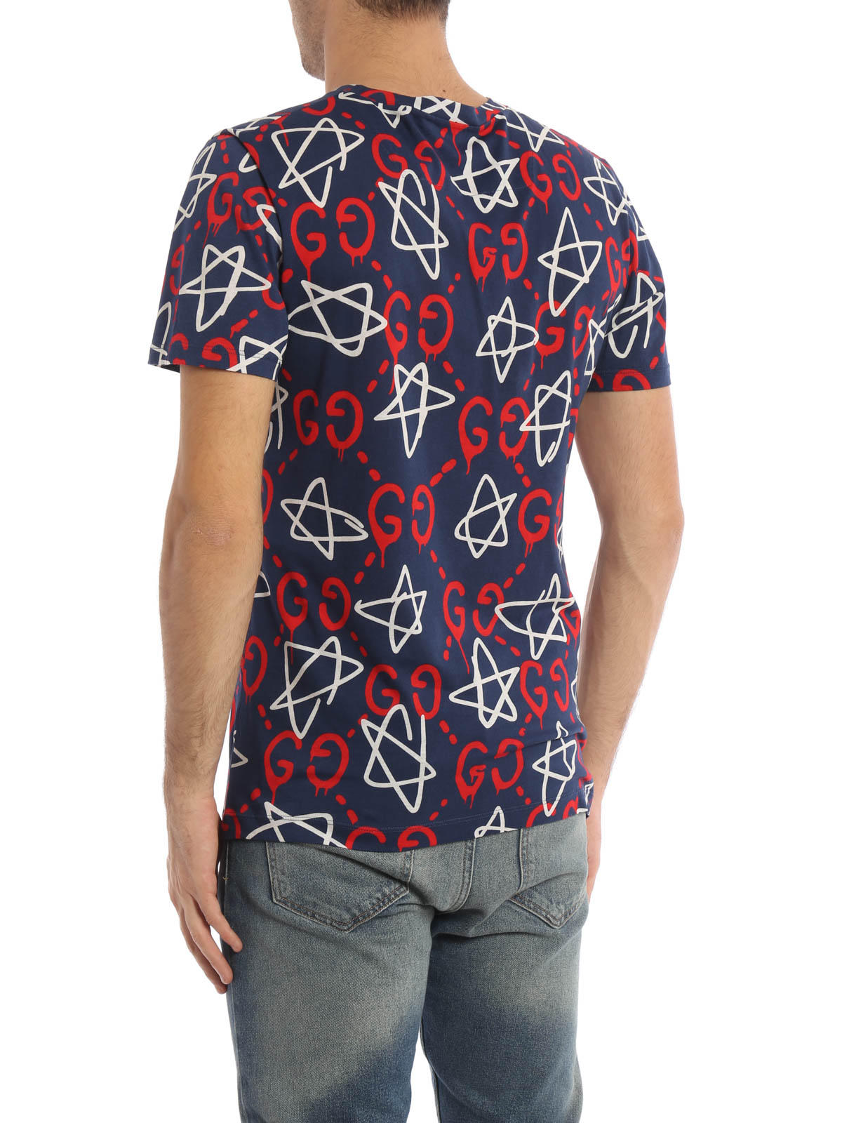 All over guccighost print t shirt by gucci t shirts ikrix for All over printing t shirts