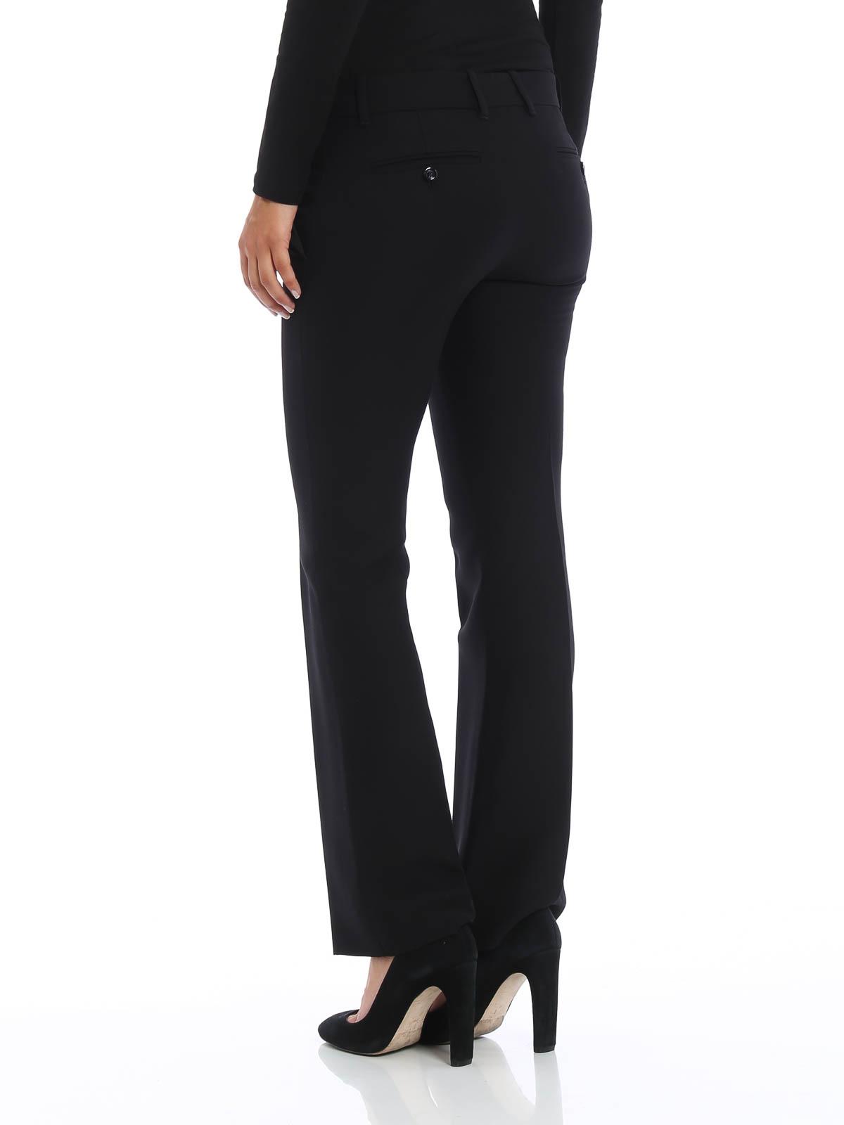 Gucci Pantalon De Vestir Negro Para Mujer Pantalones De Sastreria 430519zhm881000