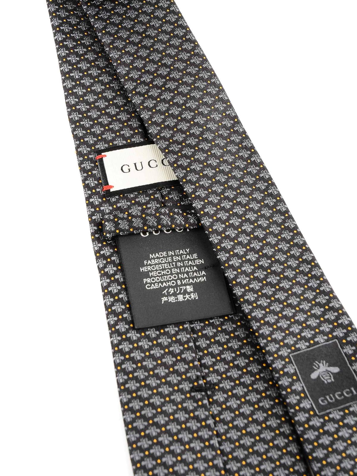 c85b297aec1a iKRIX GUCCI: ties & bow ties - Bee and dots pattern silk tie
