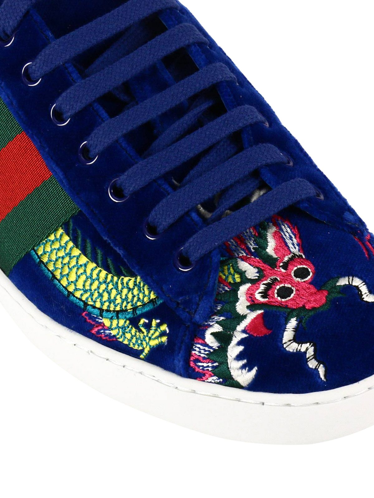 b8903961857 Gucci - Ace embroidered velvet sneakers - trainers - 473756 FASJ0 4064