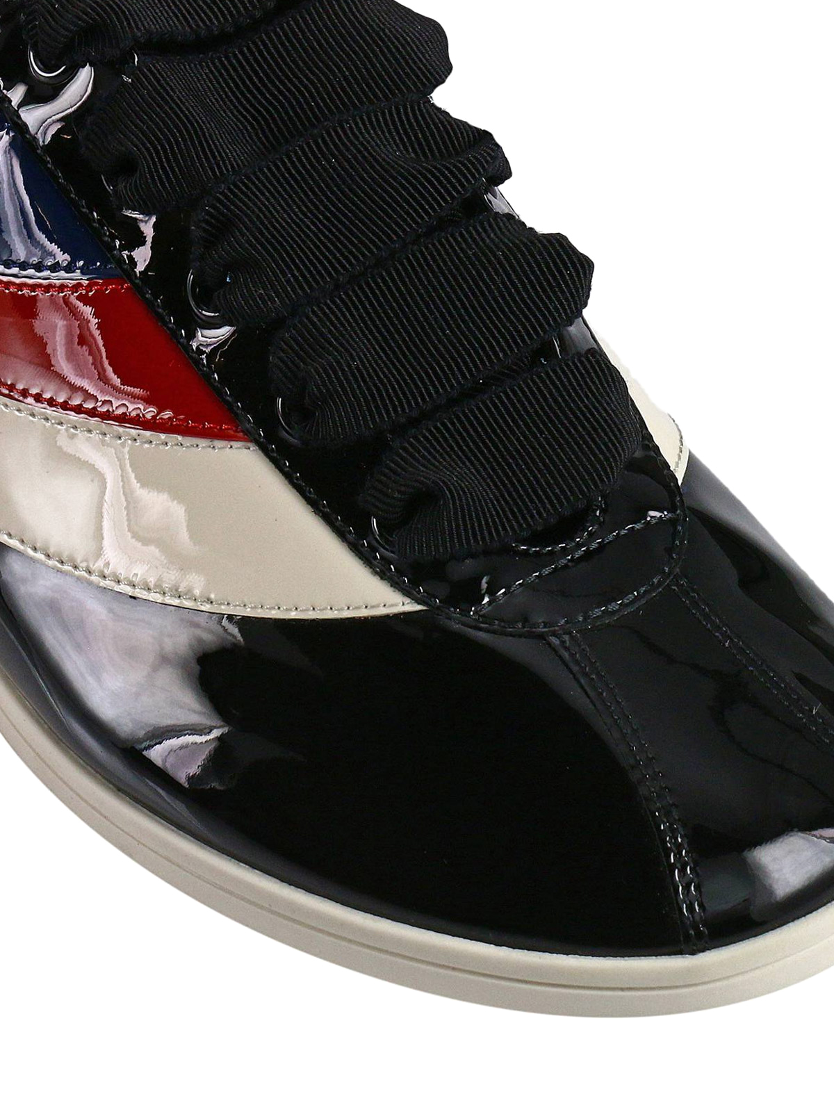 2fc68b0b6 Gucci - Falacer Web side patent sneakers - trainers - 493476 0B910 1082