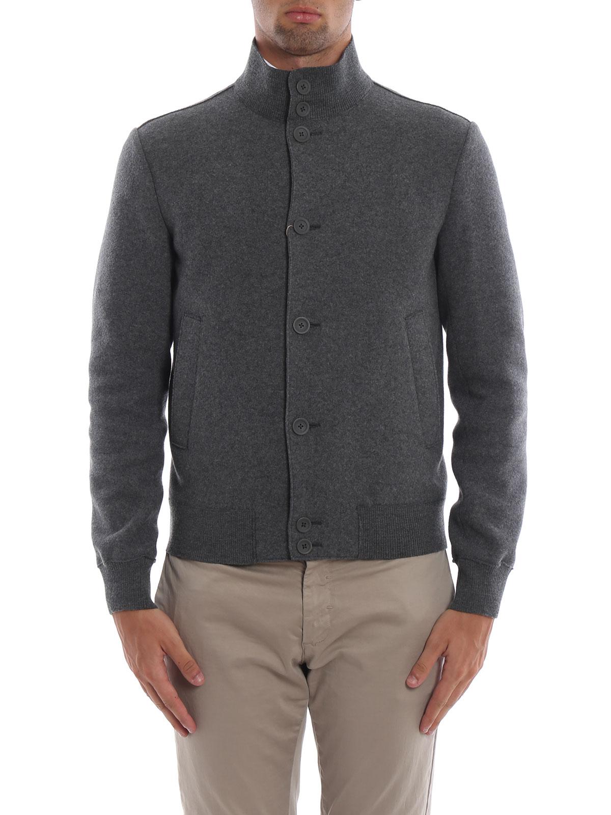 online store 5141e 10a9e Herno - Giacca casual grigia scura in lana cotta - giacche ...