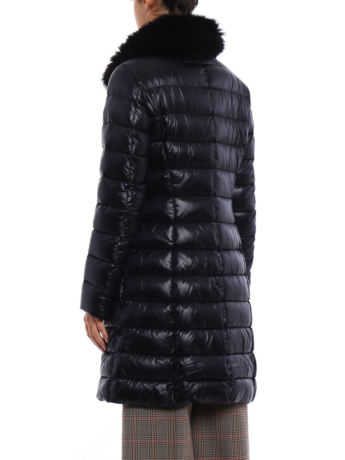 iKRIX HERNO  cappotti imbottiti - Piumino nero con collo di pelliccia 487acedbd9d