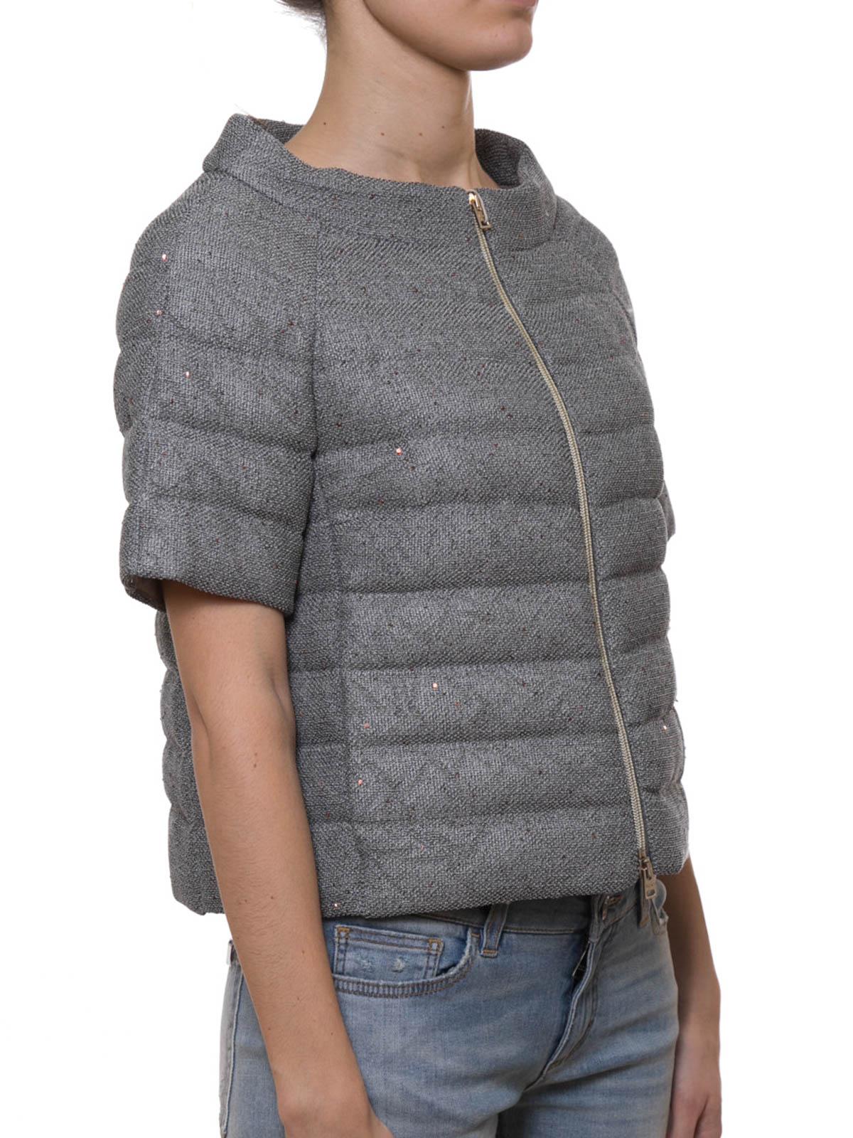 Herno Coarse Grained Cotton Padded Jacket Padded