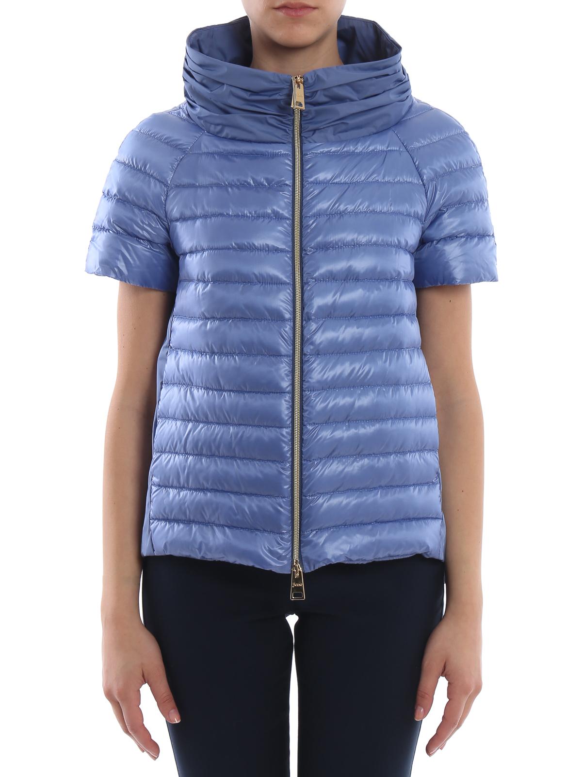 96d6acdb8ab iKRIX HERNO: padded jackets - Light blue taffeta and nylon padded jacket