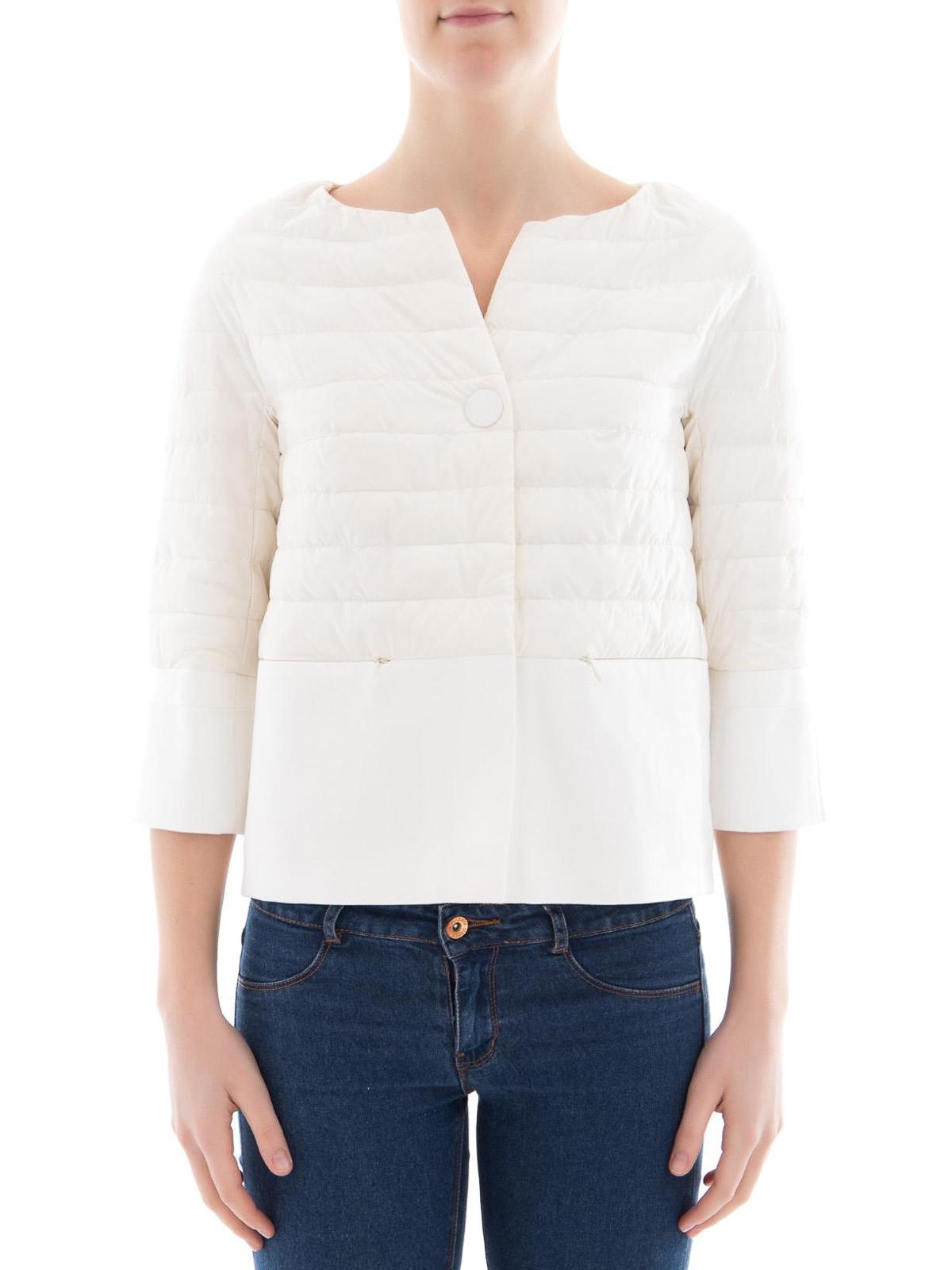 reputable site a780f 8adec Herno - Piumino bianco bon-ton impermeabile - giacche ...