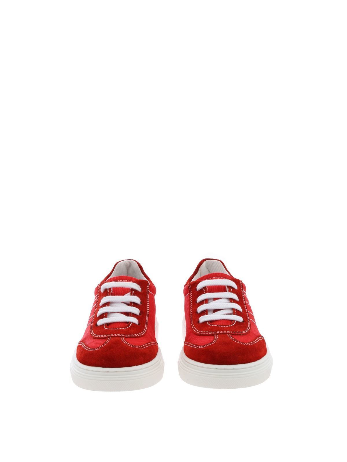 Hogan Junior - J340 sneakers in red - trainers - HXT3400BL80KNKR001