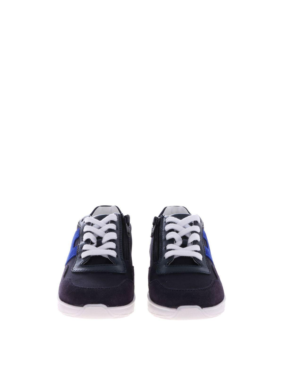 Hogan Junior - J371 suede sneakers - trainers - HXT3710AP30KK6694P