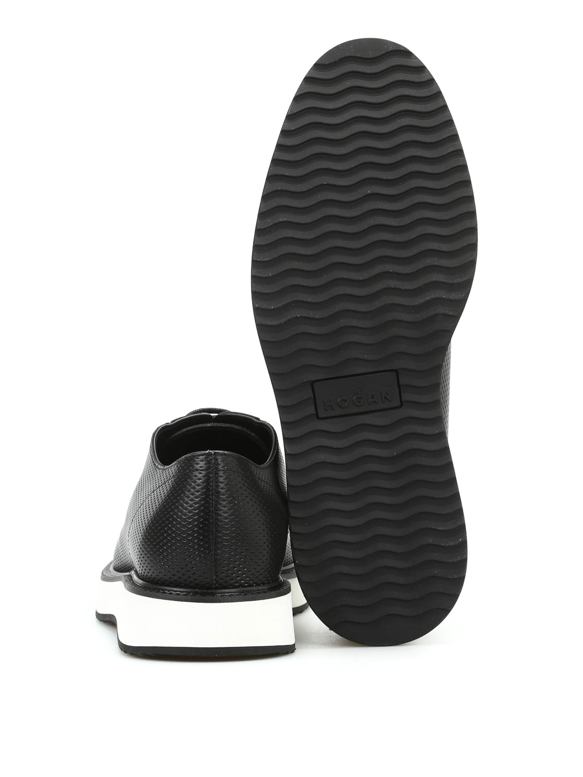 Hogan - H271 Route X perforated derby - lace-ups shoes ...