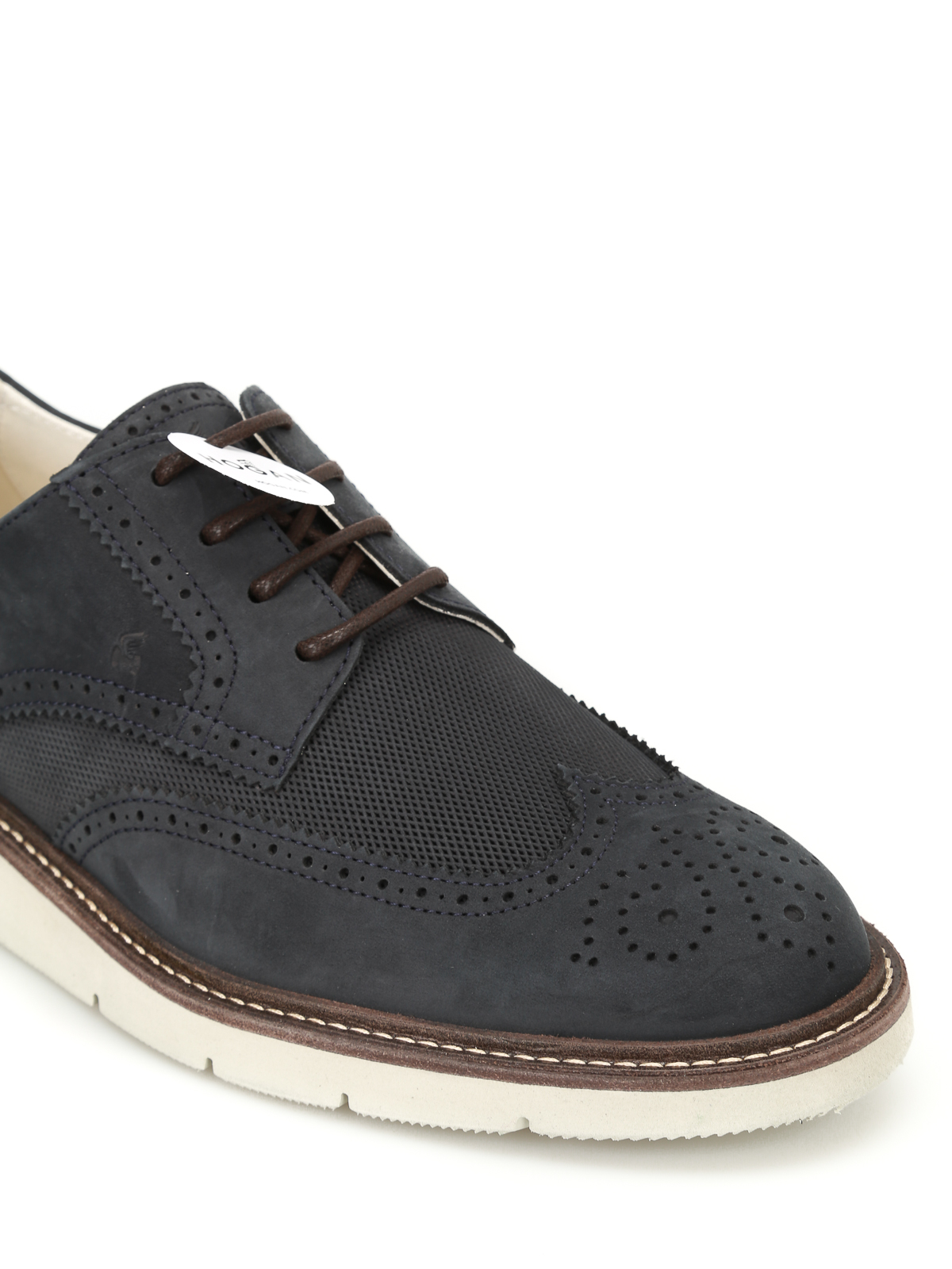 Hogan H322 Derby nubuck brogue shoes آکسفورد