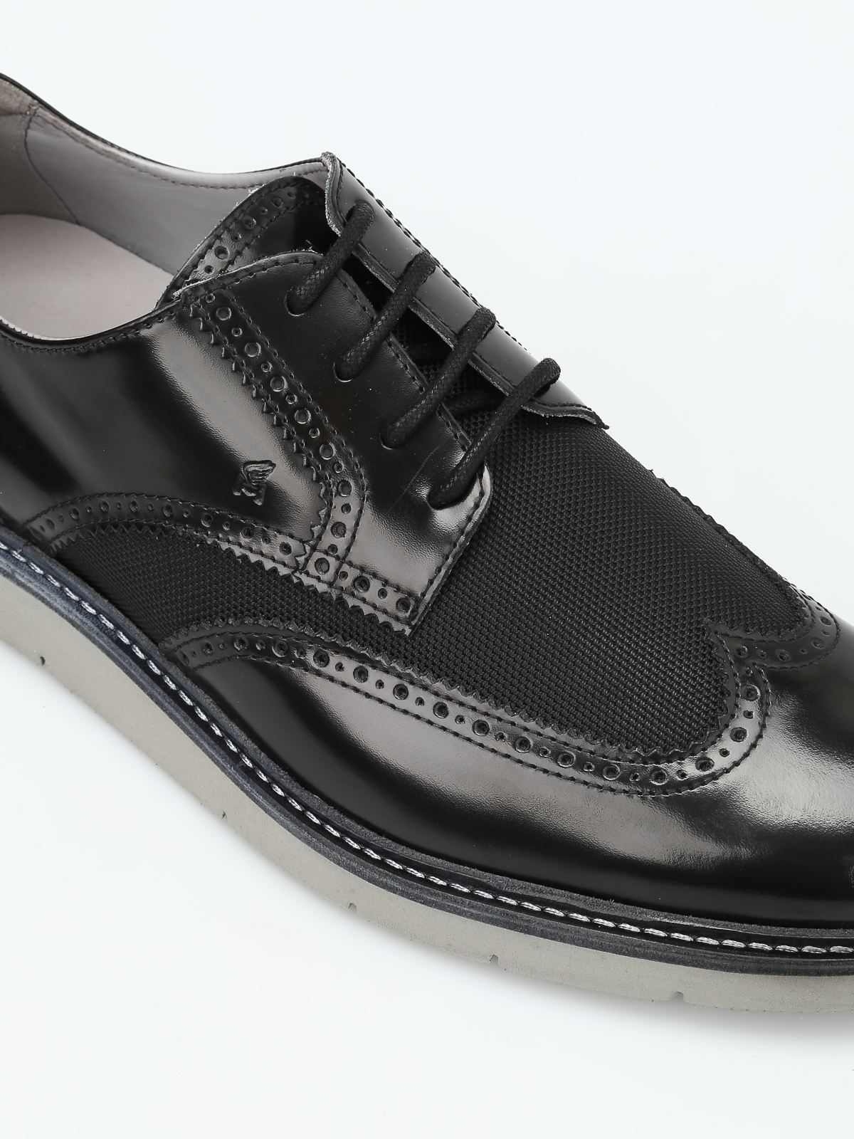 Hogan H322 leather and fabric Derby shoes آکسفورد