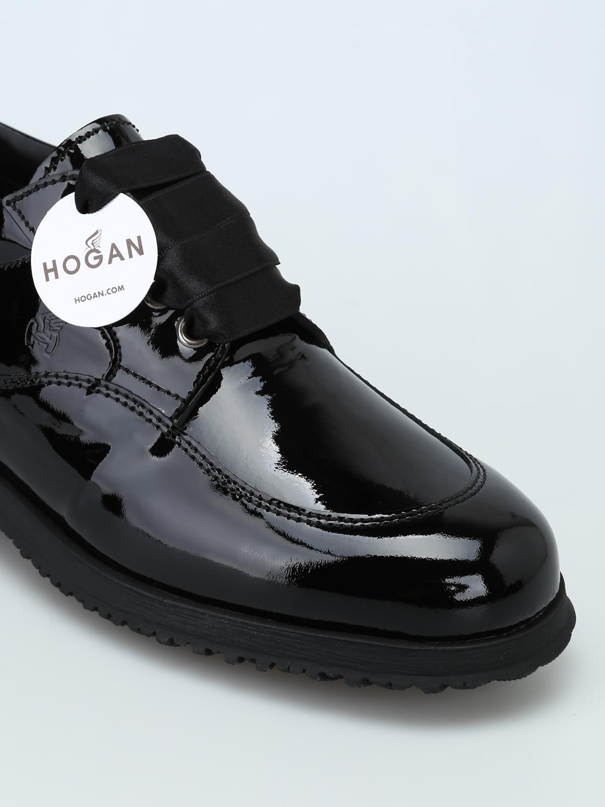 Scarpe stringate Hogan - Stringate Traditional in vernice nera ...