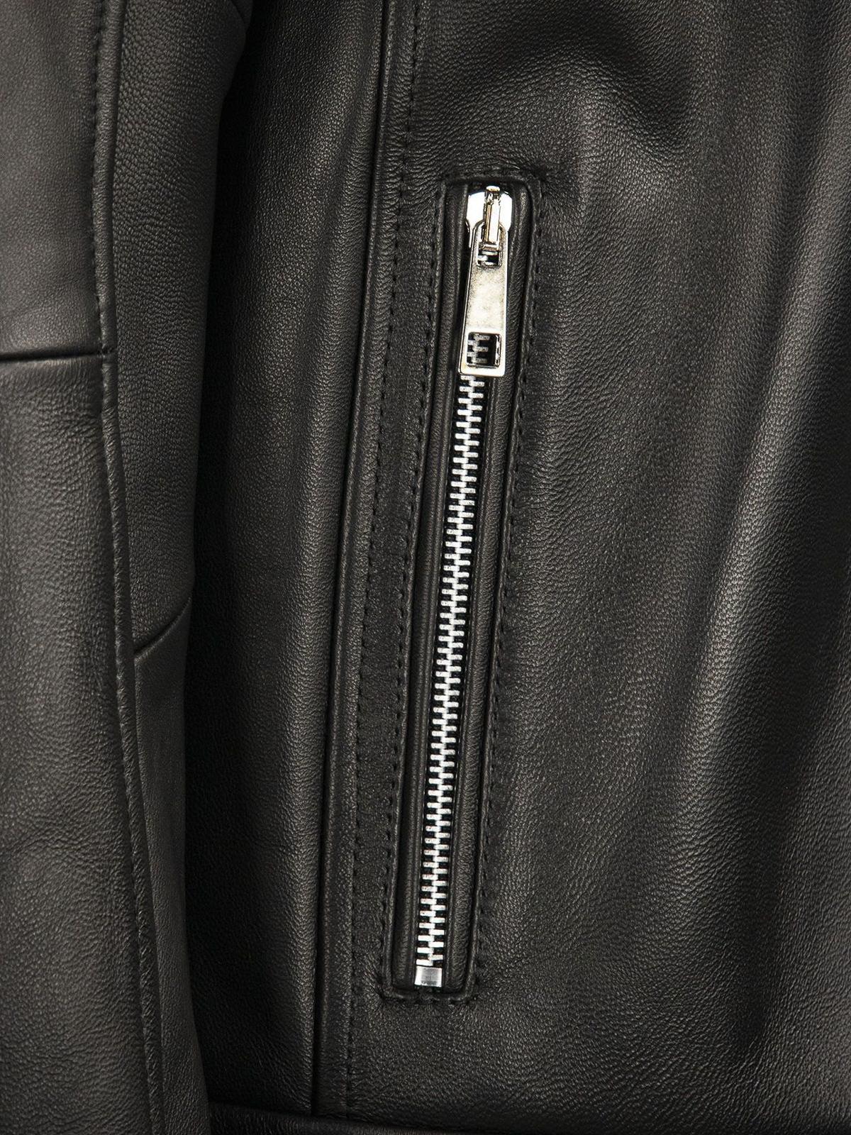 Giacche in pelle Hogan - Giacca biker in pelle - KJM1241205PRQYB999