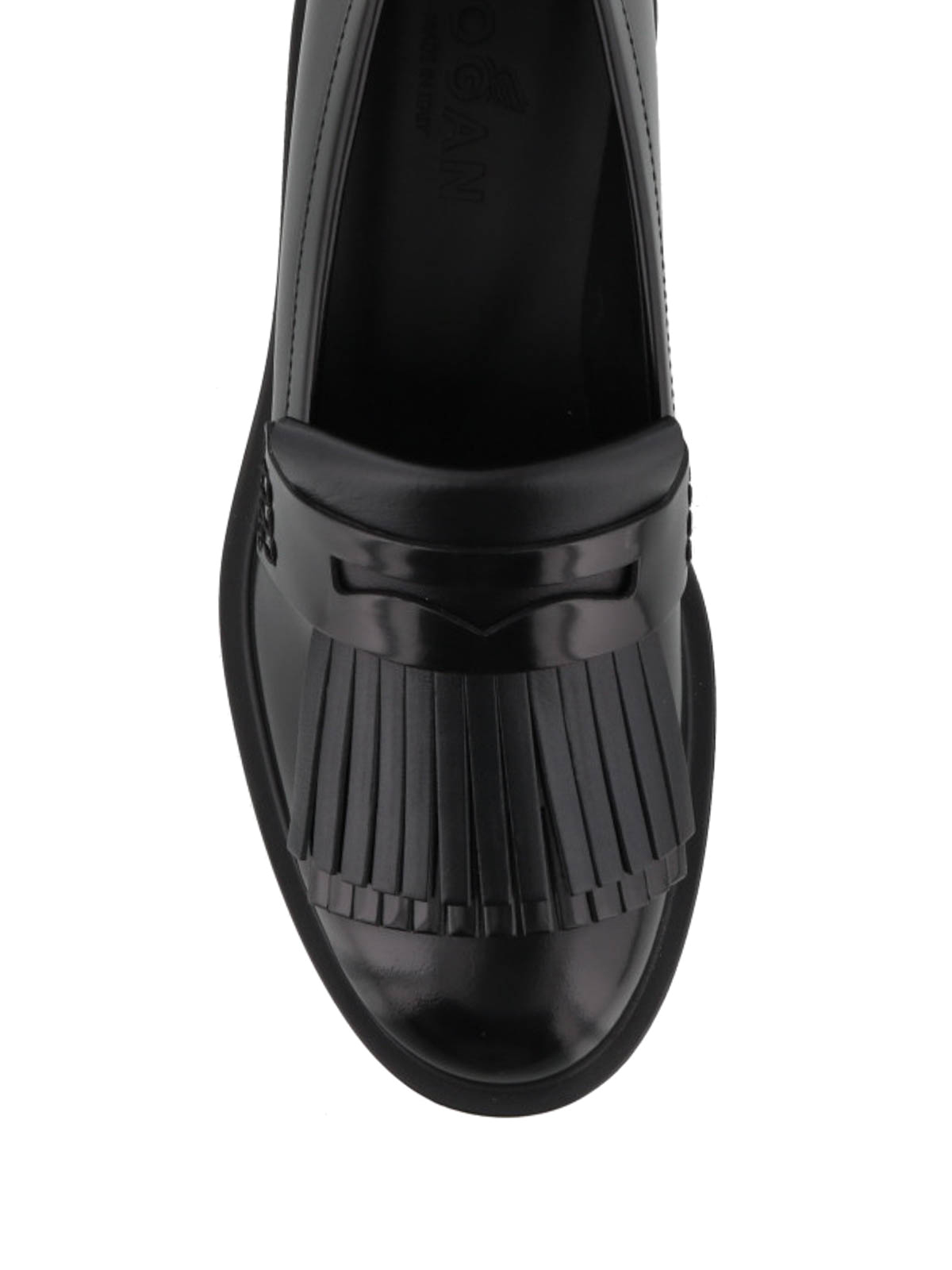 Hogan - Route H332 fringed leather loafers - Loafers & Slippers ...