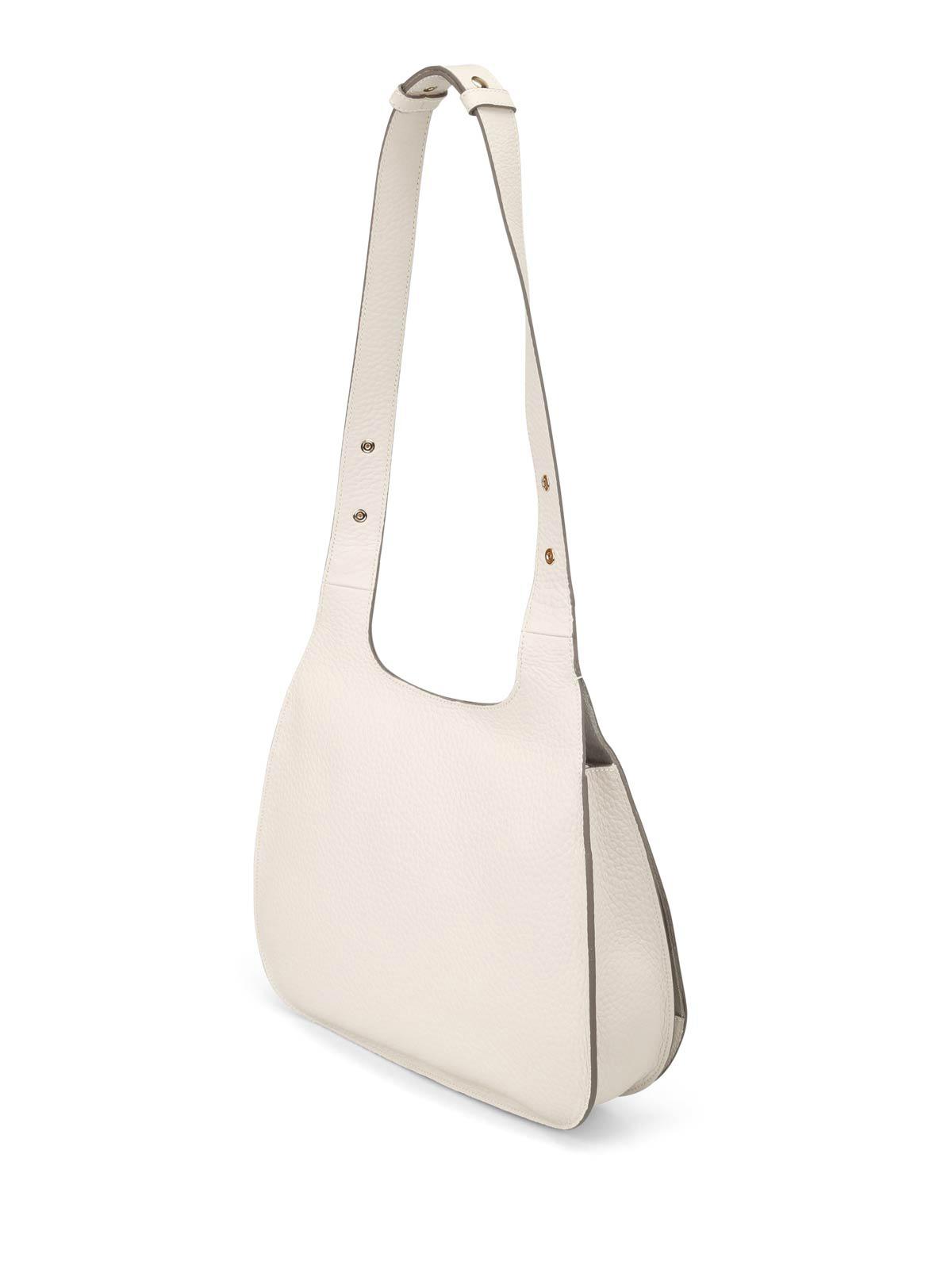 Hogan Hammered beige leather hobo bag bq3HS