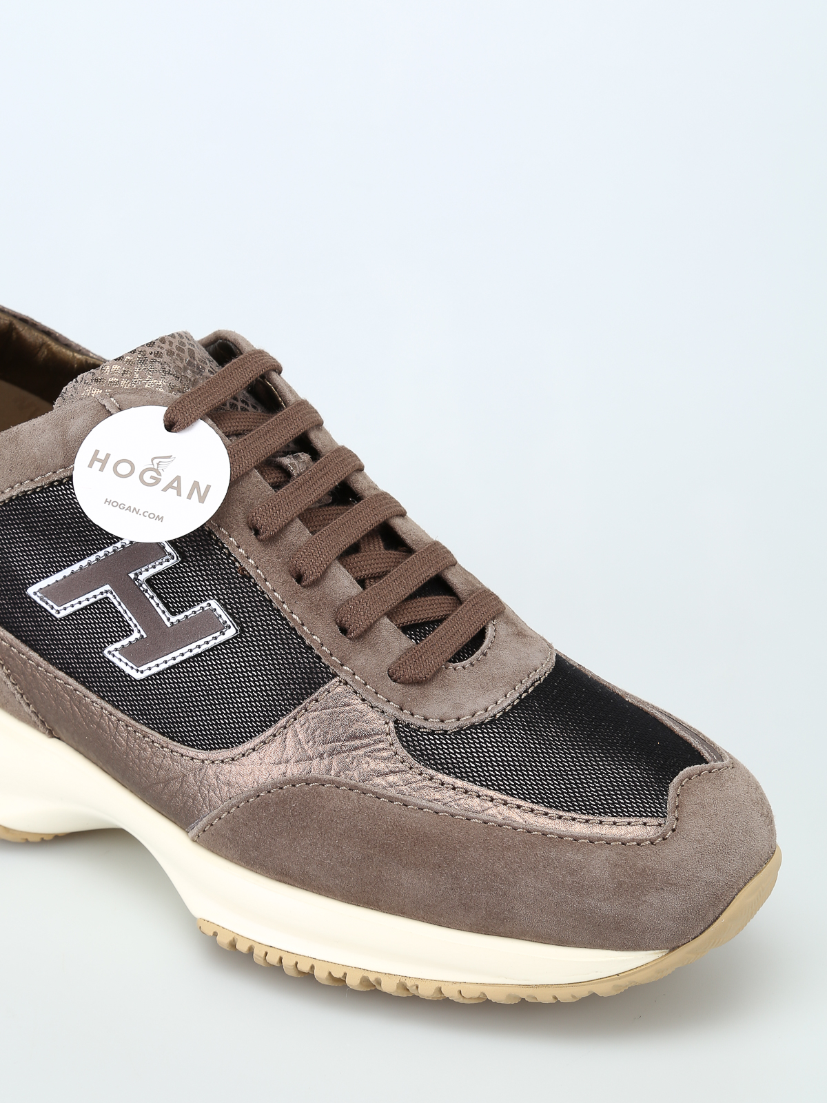 Trainers Hogan - Beige and black Interactive H Flock ...