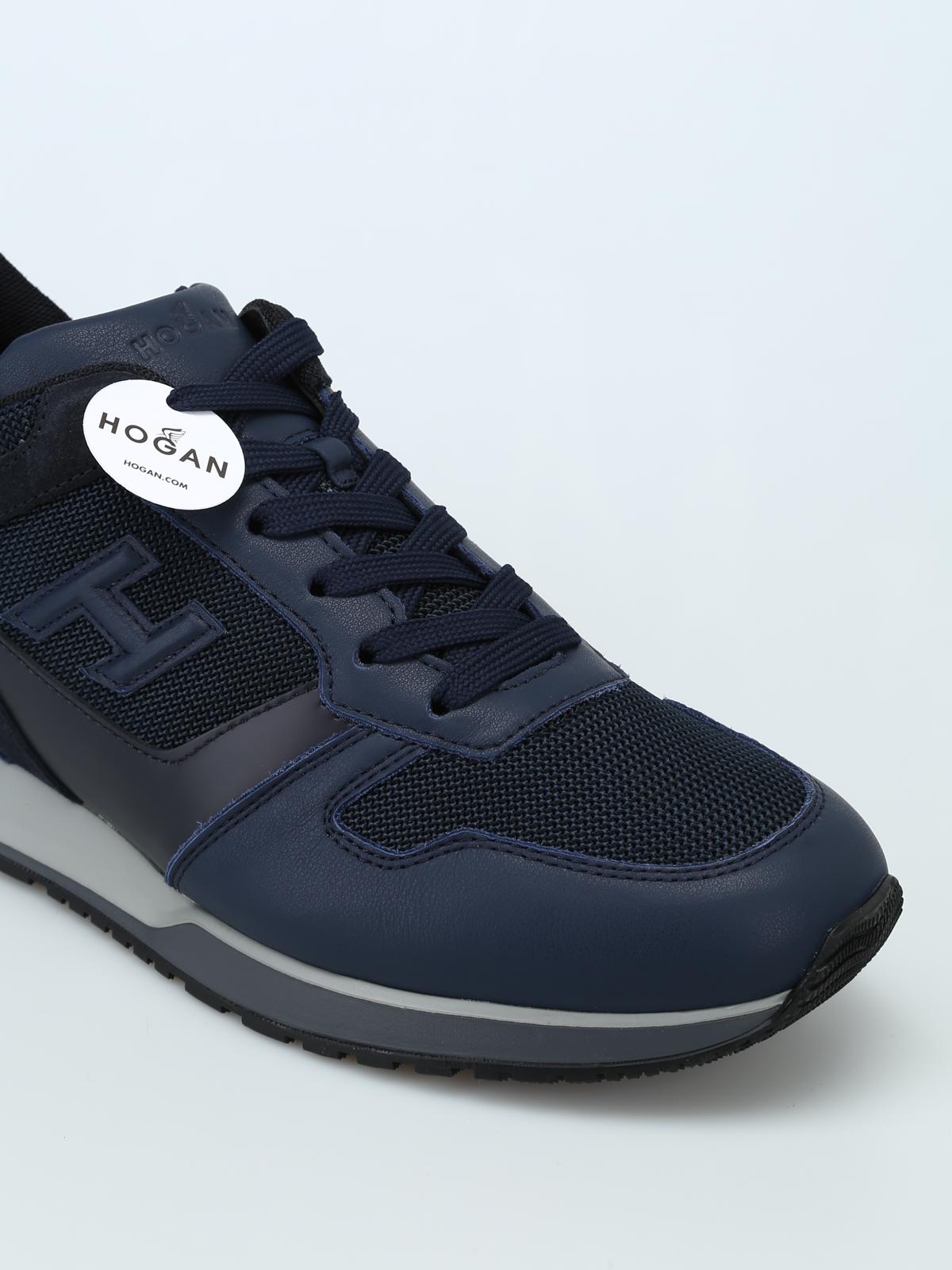 check-out 9e82b 1c331 Hogan - Sneaker blu H321 con H 3D - sneakers ...
