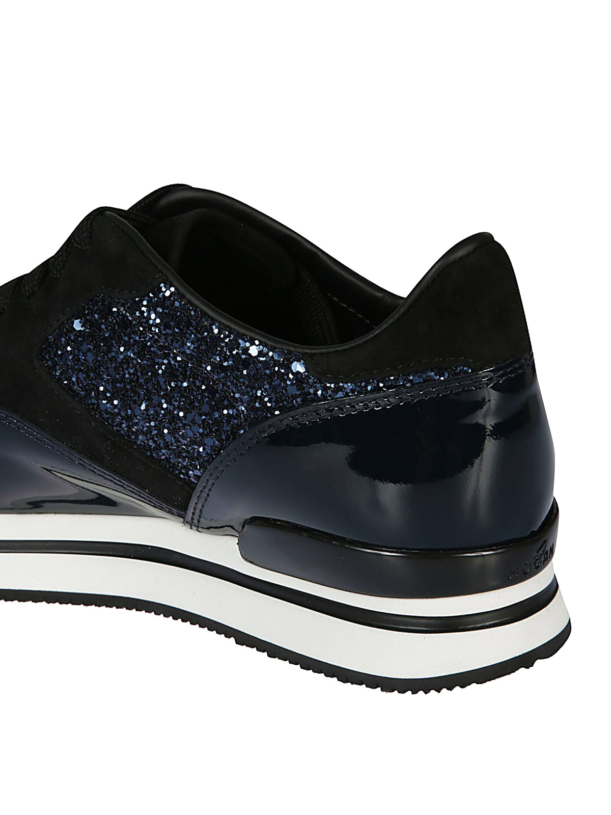 Trainers Hogan - H222 blue patent and glitter sneakers ...