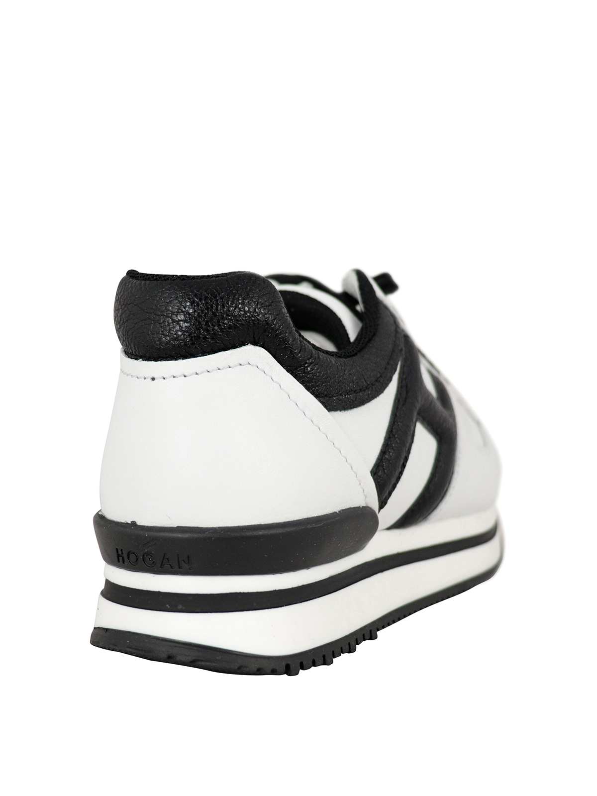 Hogan Junior - H222 crackle H leather sneakers - trainers ...