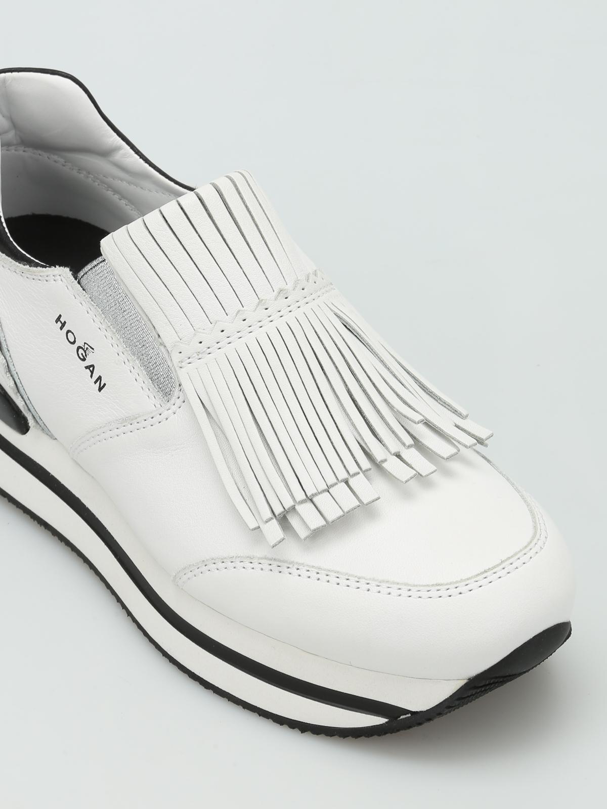 Sneakers Hogan - Slip-on H222 in pelle con frange - HXW2220X170DZF016U
