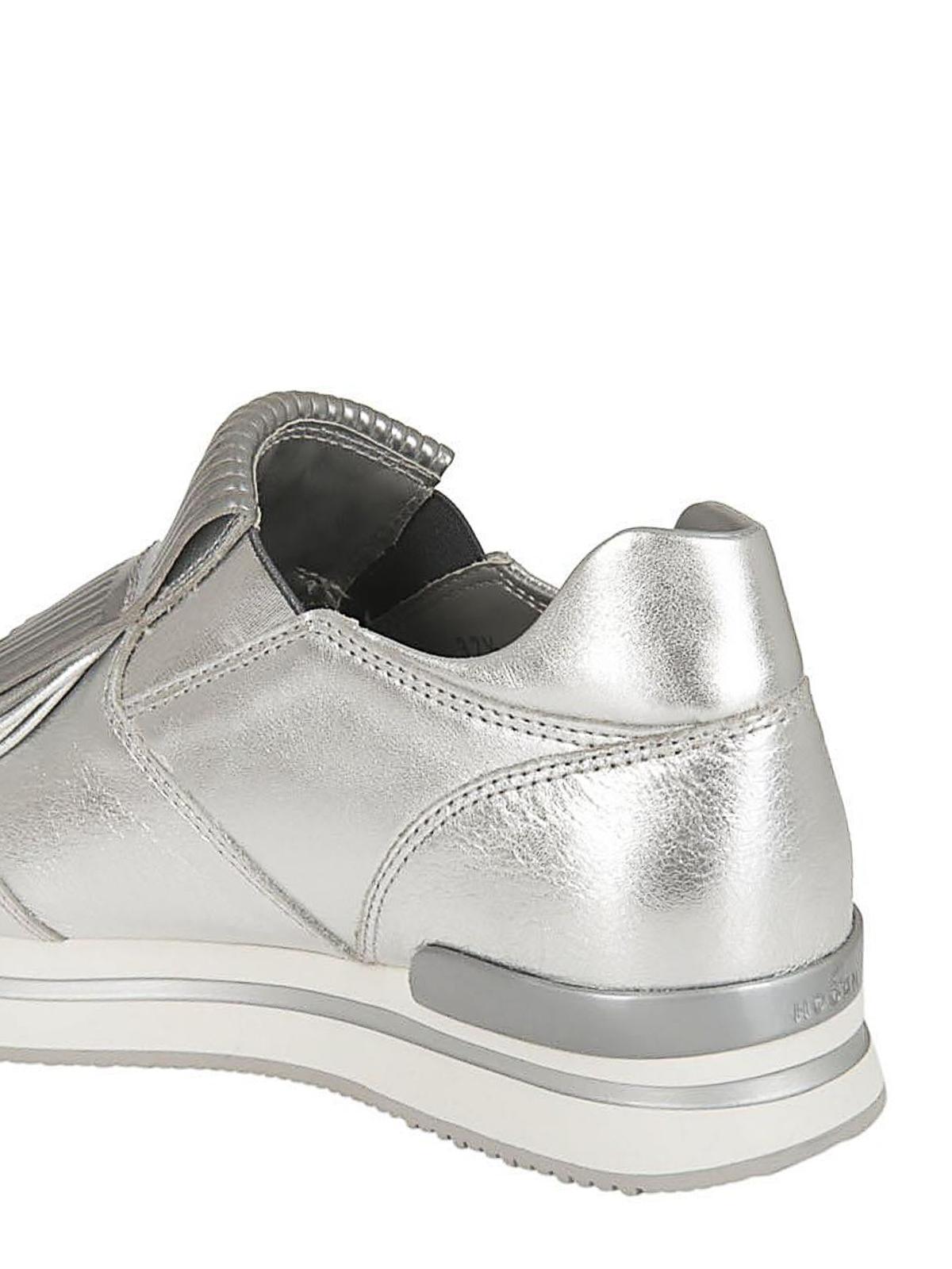 Hogan - H222 silver fringed slip-ons - trainers - HXW2220AH80IZDB200