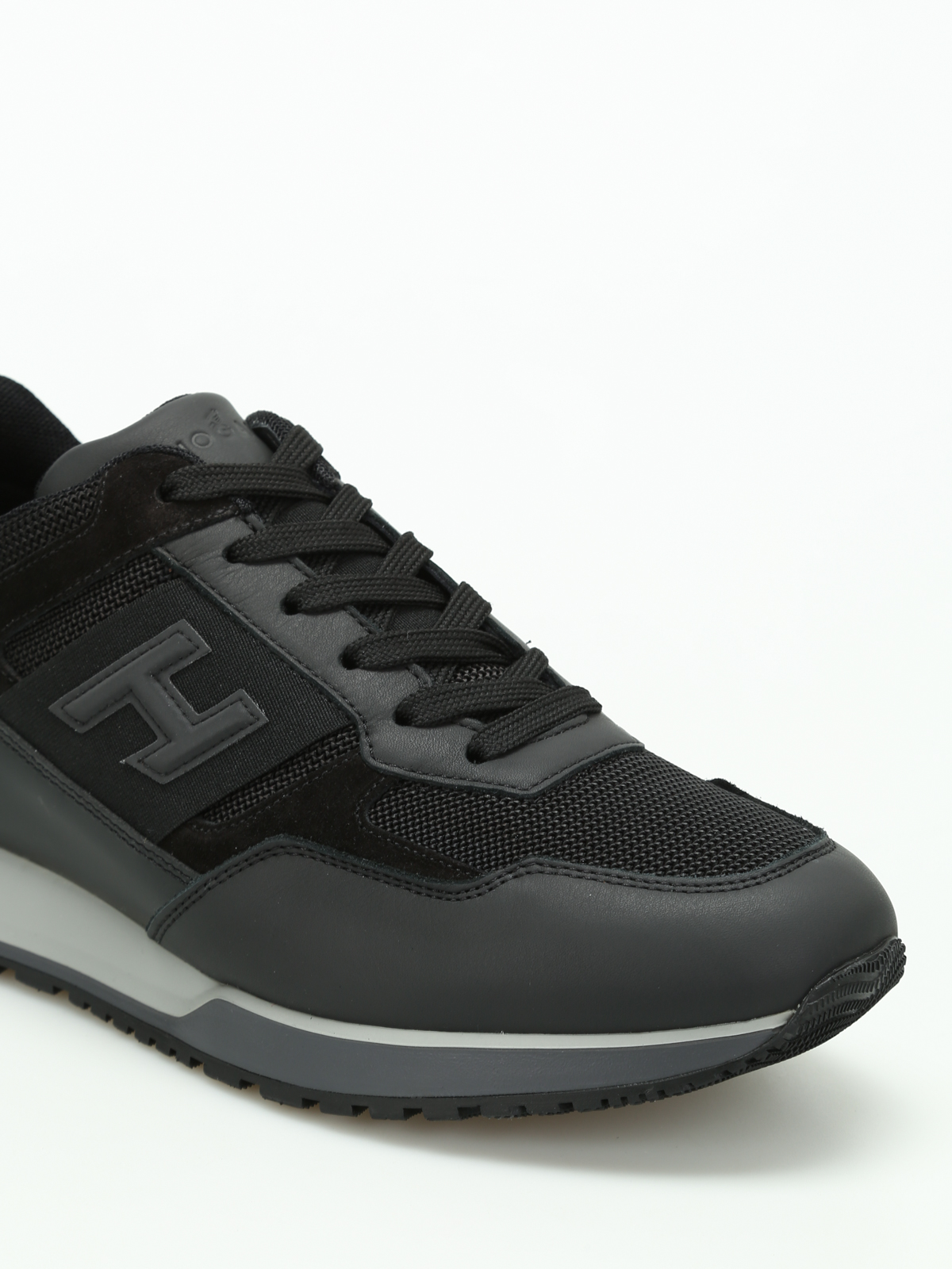Trainers Hogan - H321 leather and mesh sneakers - HXM3210Y940HIR246L