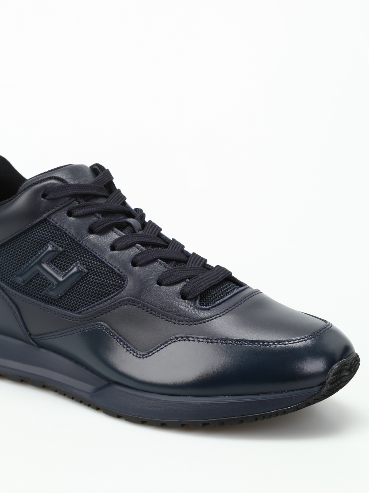 Trainers Hogan - H321 two-tone leather mid top shoes ...