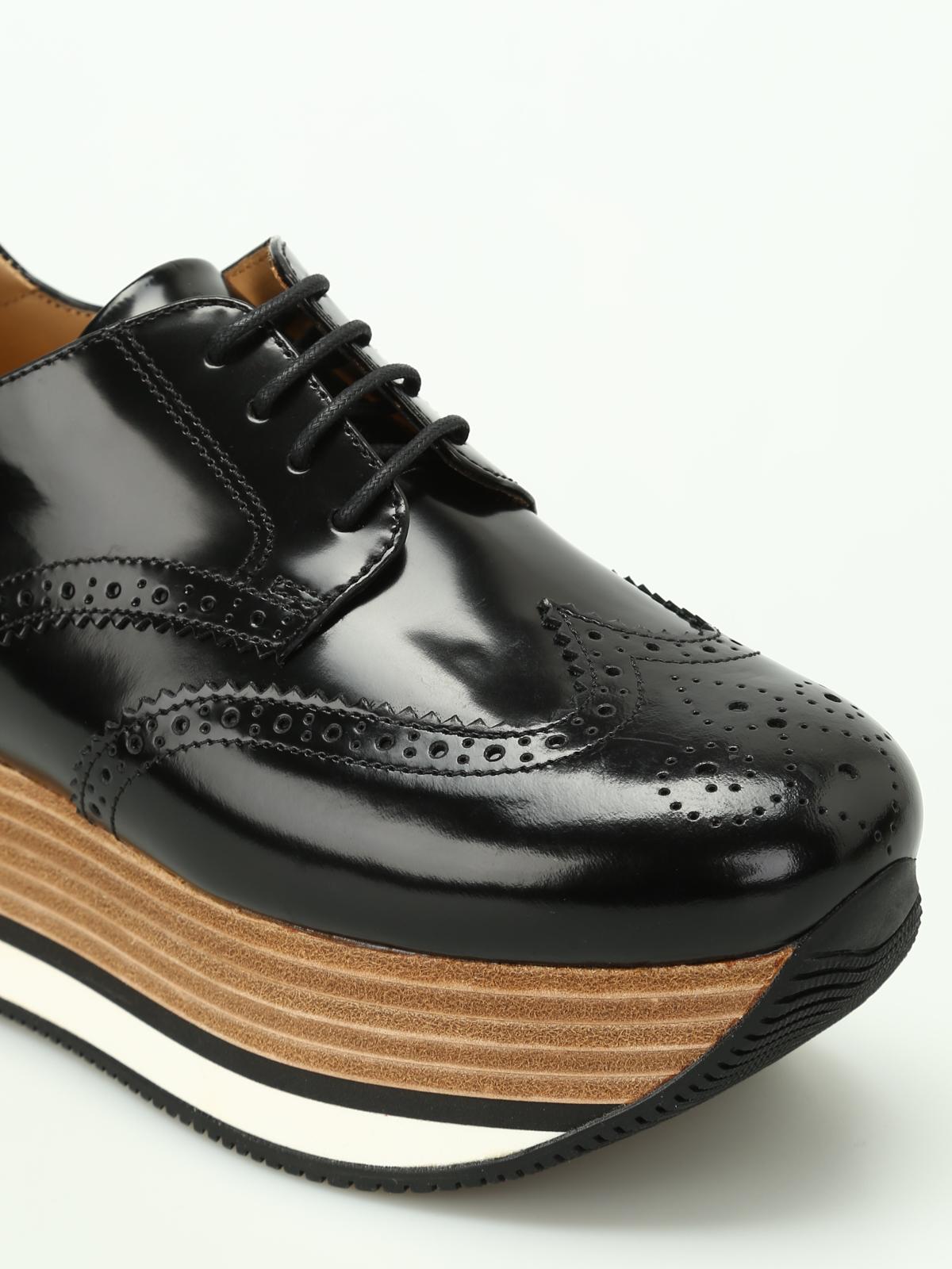 Hogan - Sneaker brogue H330 con zeppa - sneakers - HXW3300Y8801QAB999