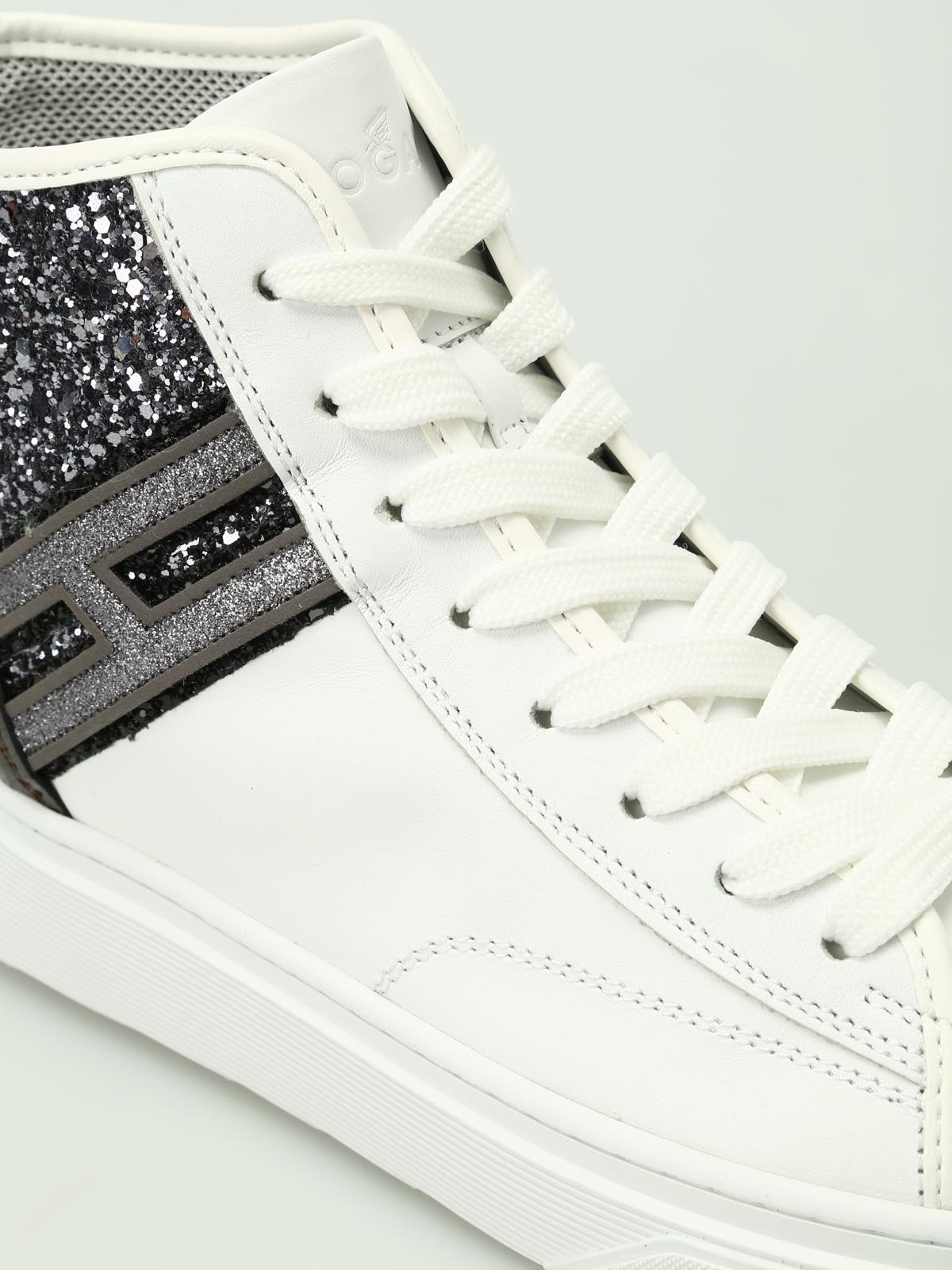 Trainers Hogan - H342 hi-top glitter sneakers - HXW3420J230HS80ZPP