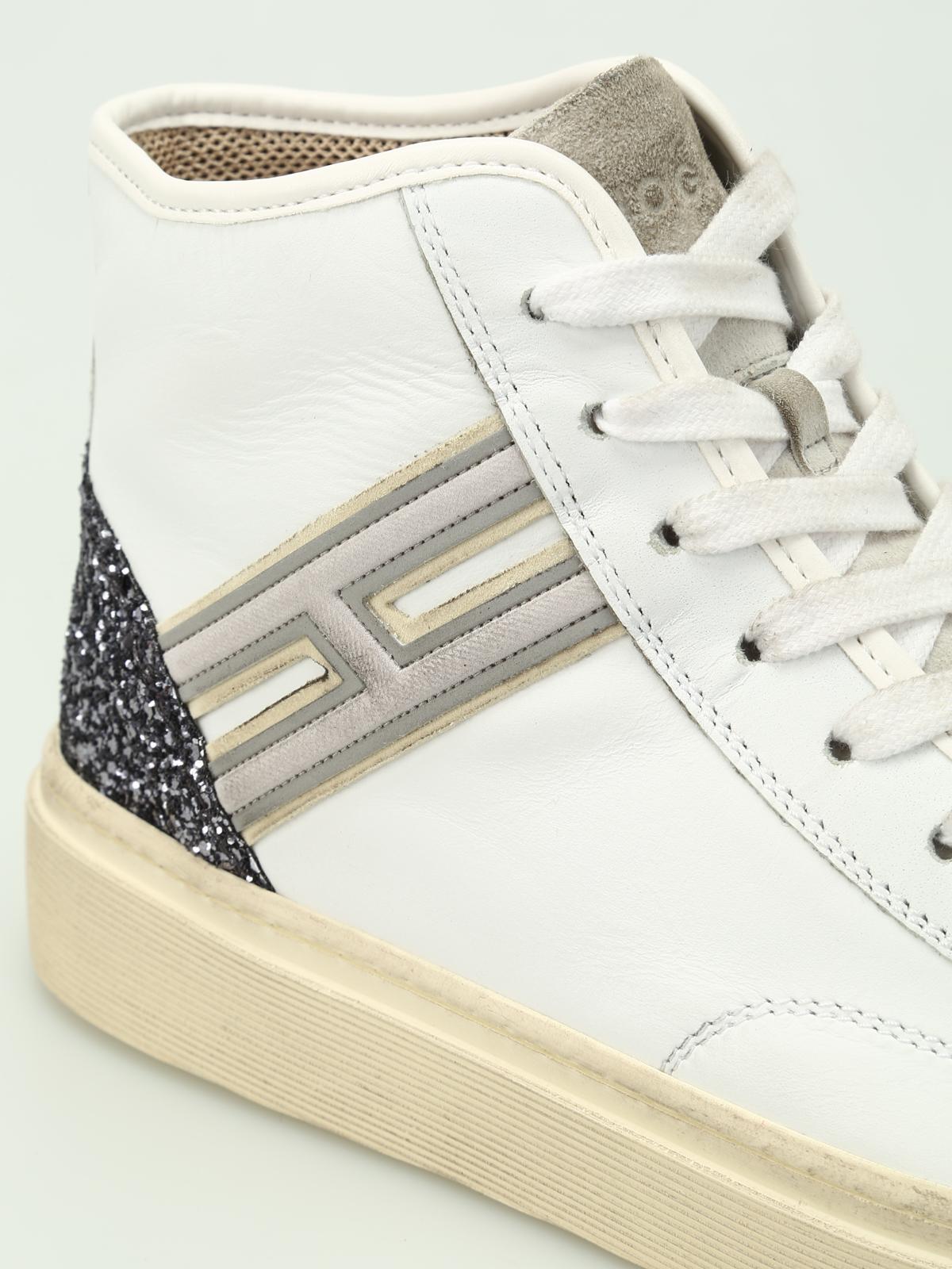 Hogan - H342 hi-top leather smart sneakers - trainers ...