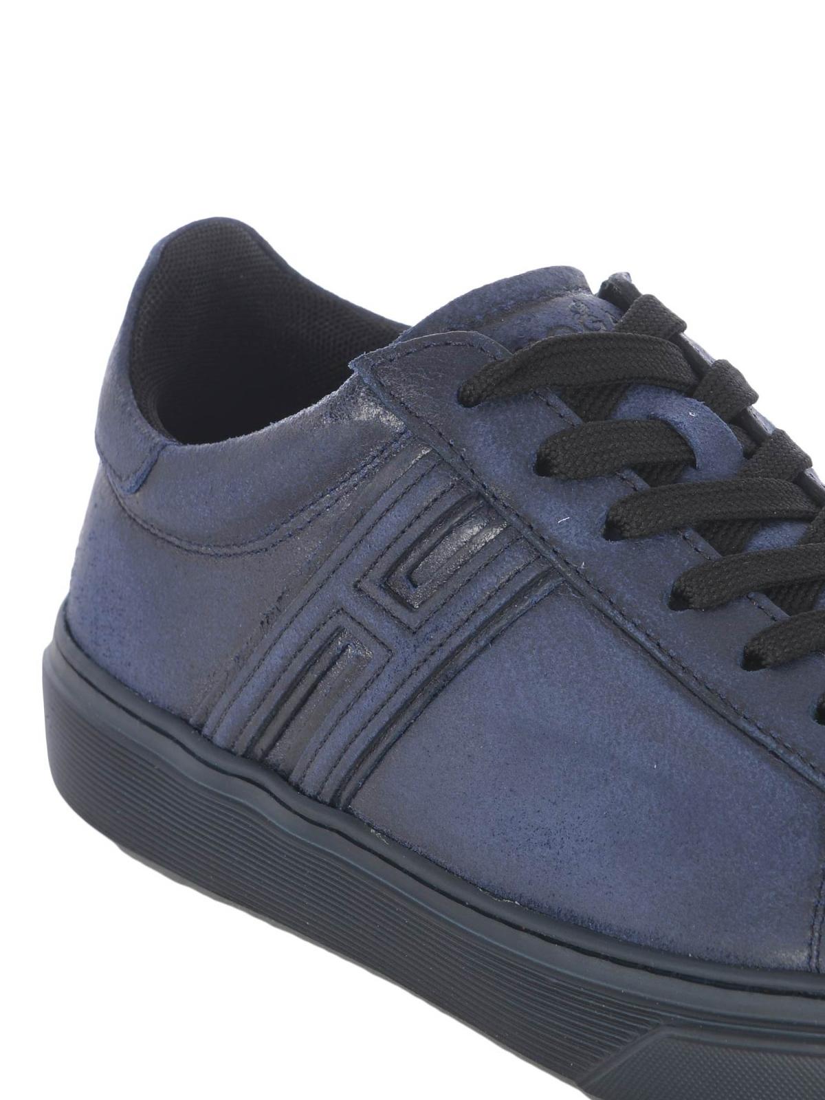 Hogan - H365 blue split leather
