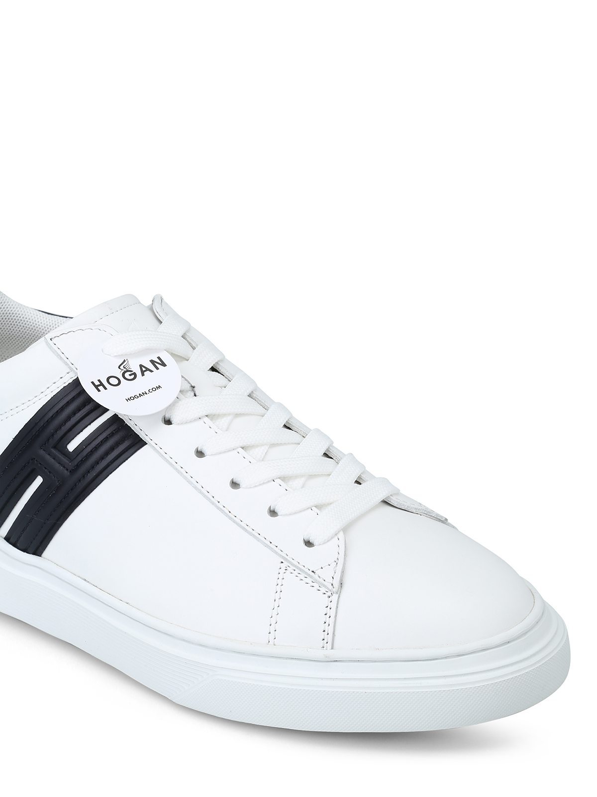 Trainers Hogan - H365 elongated H white leather sneakers ...