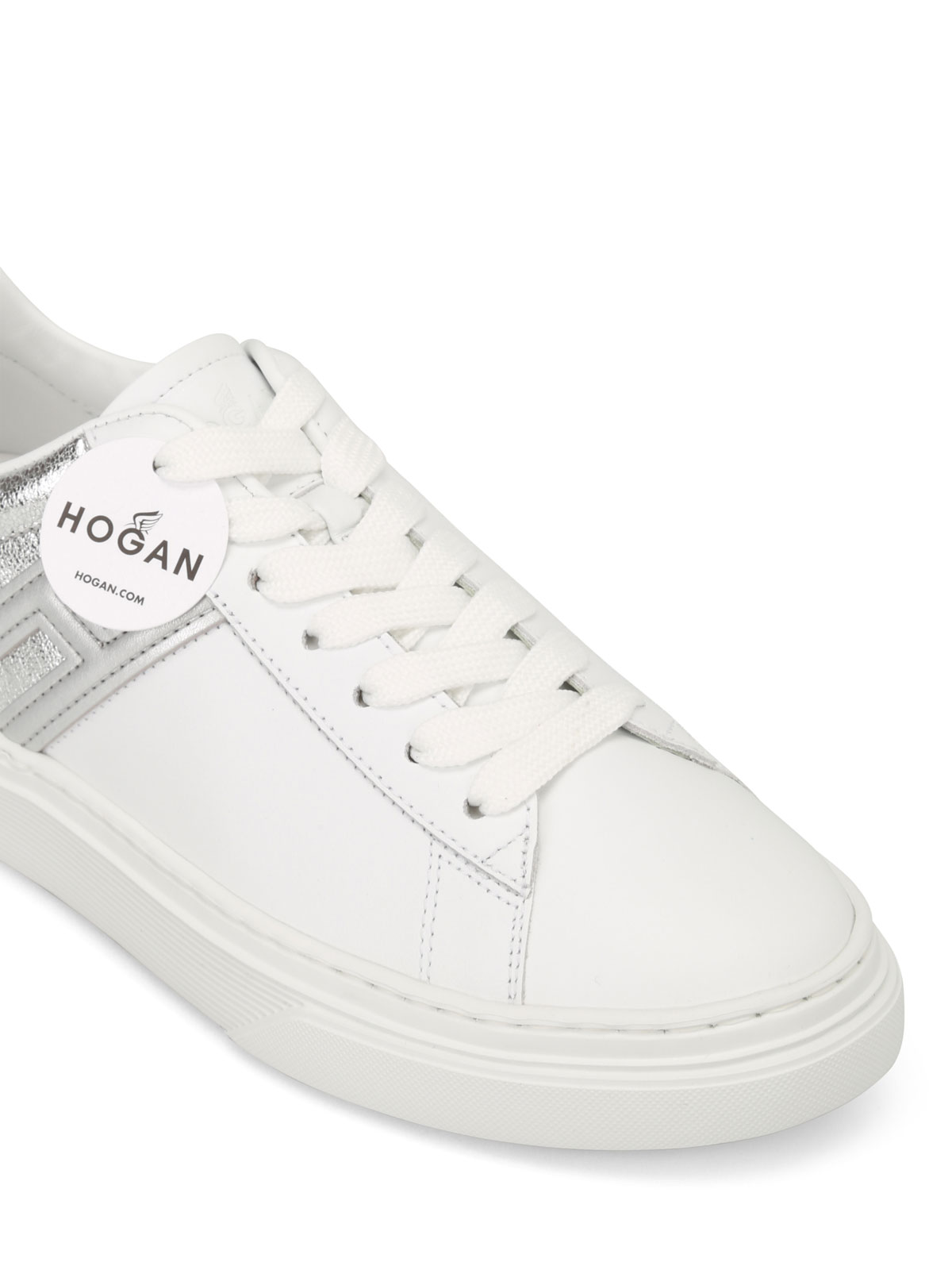 Hogan H365 Low Top White Leather Sneakers Trainers Hxw3650j970iii0351