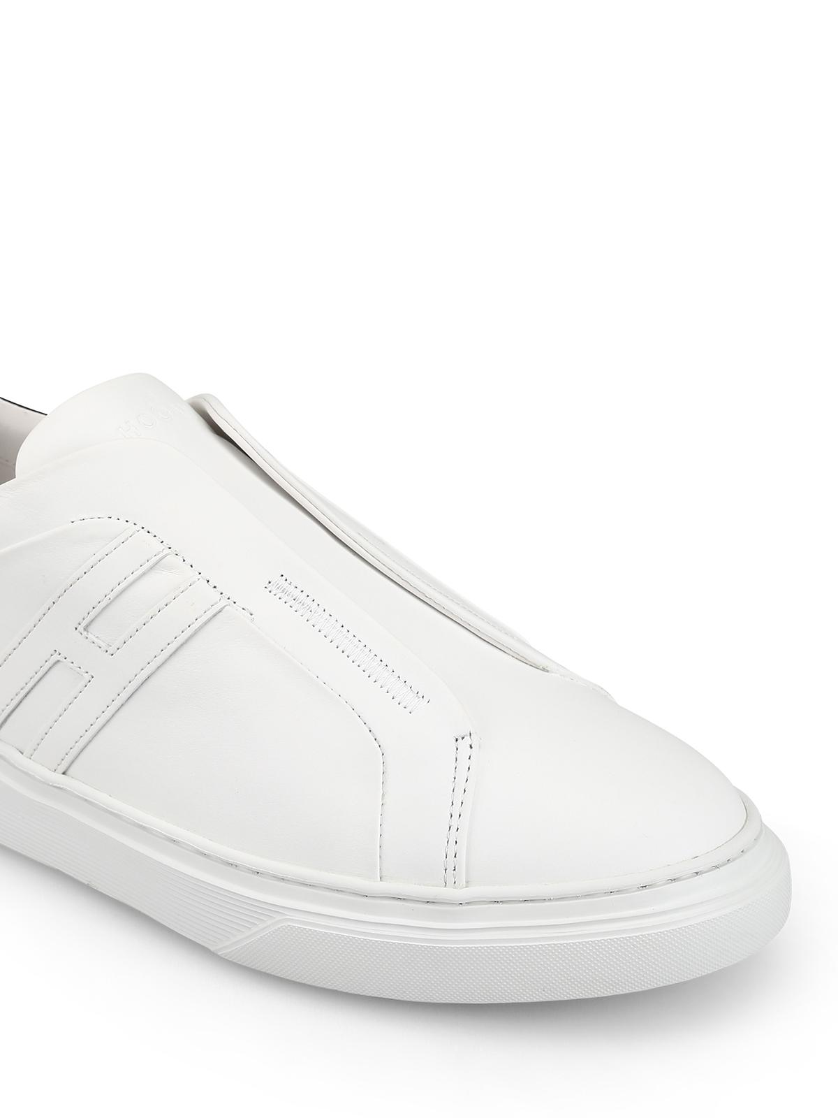 Trainers Hogan - H365 white leather slip-ons - HXM3650BE00KFM0001