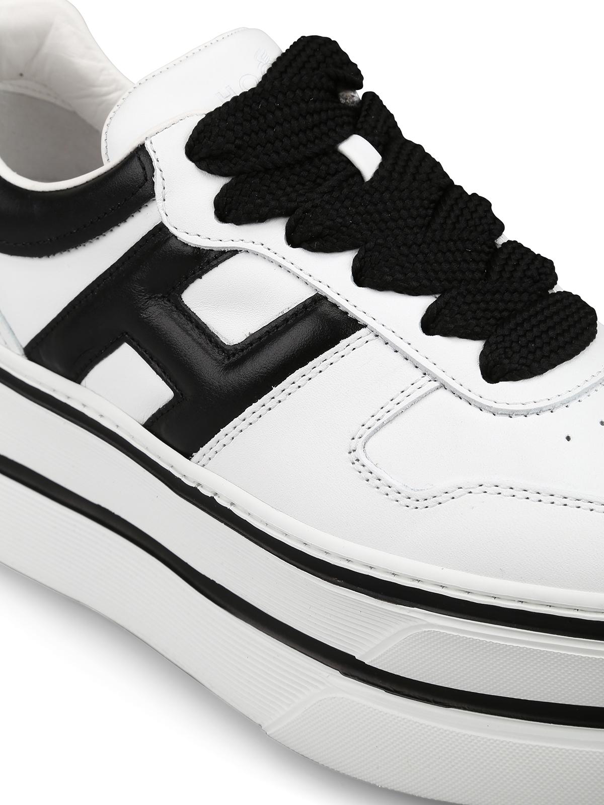 Sneakers Hogan - Sneaker H449 bianca e nera - HXW4490BS01KLA0001