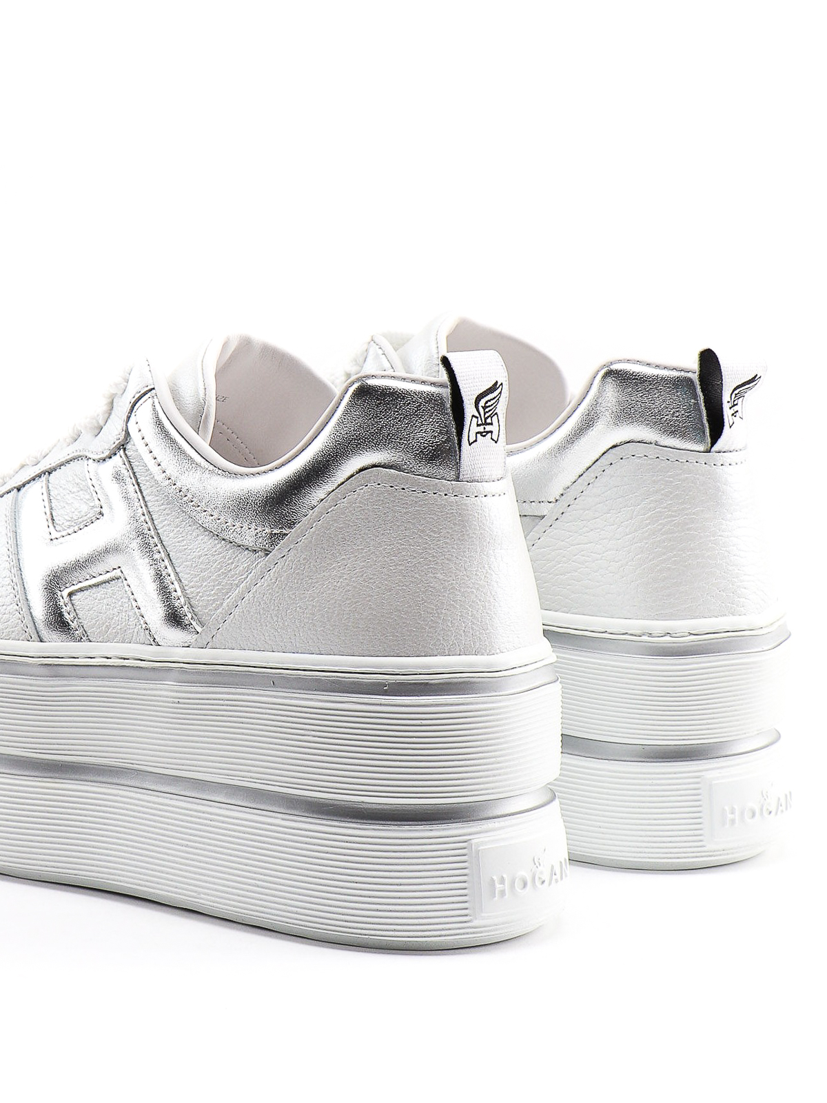 Hogan - H449 white and silver sneakers - trainers