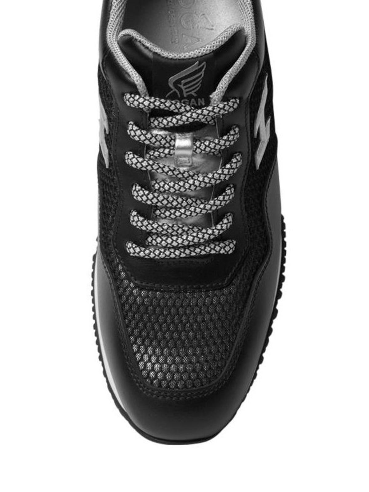 Trainers Hogan - Interactive black summer sneakers ...