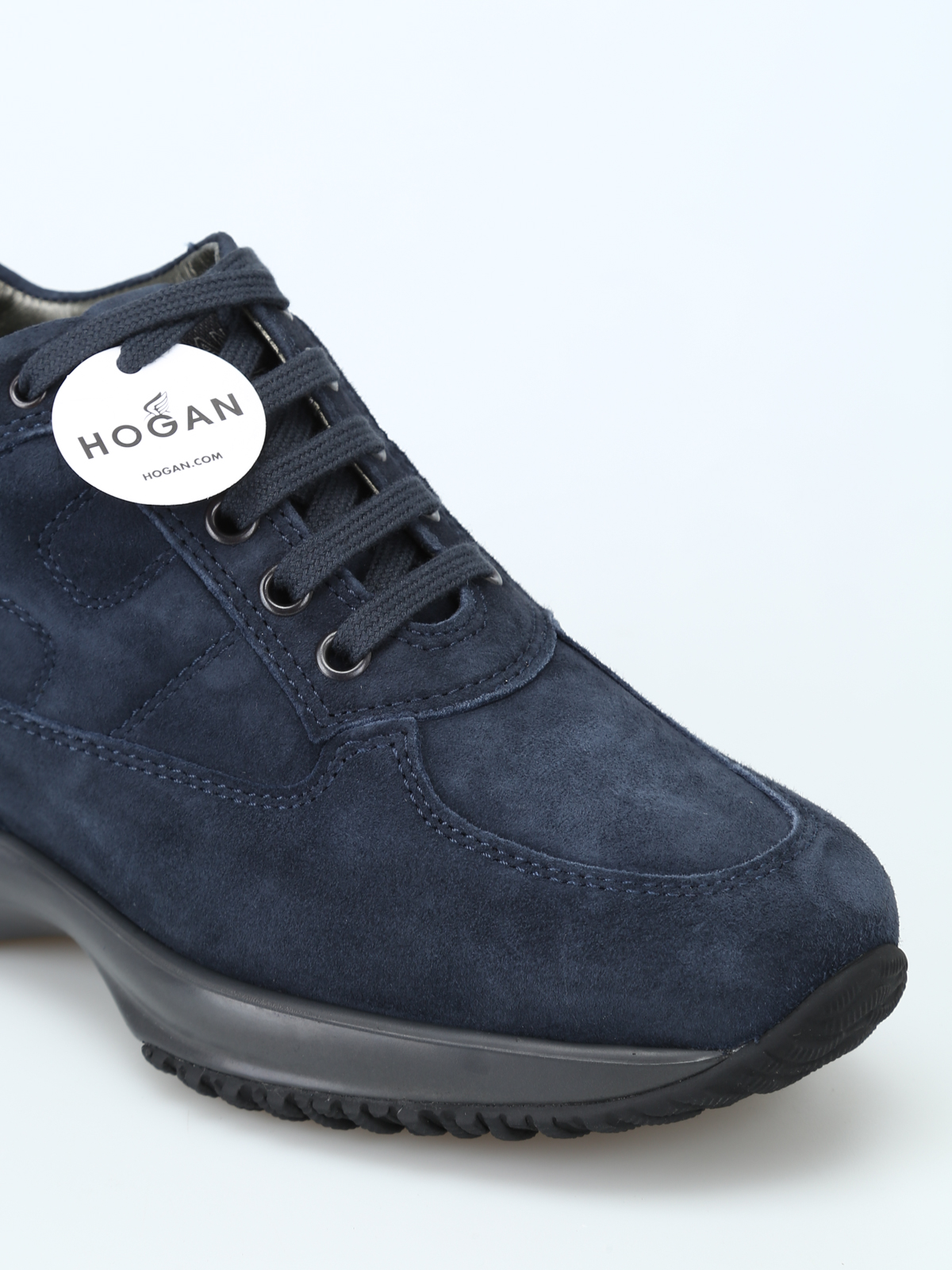 Hogan - Interactive blue suede sneakers - trainers ...
