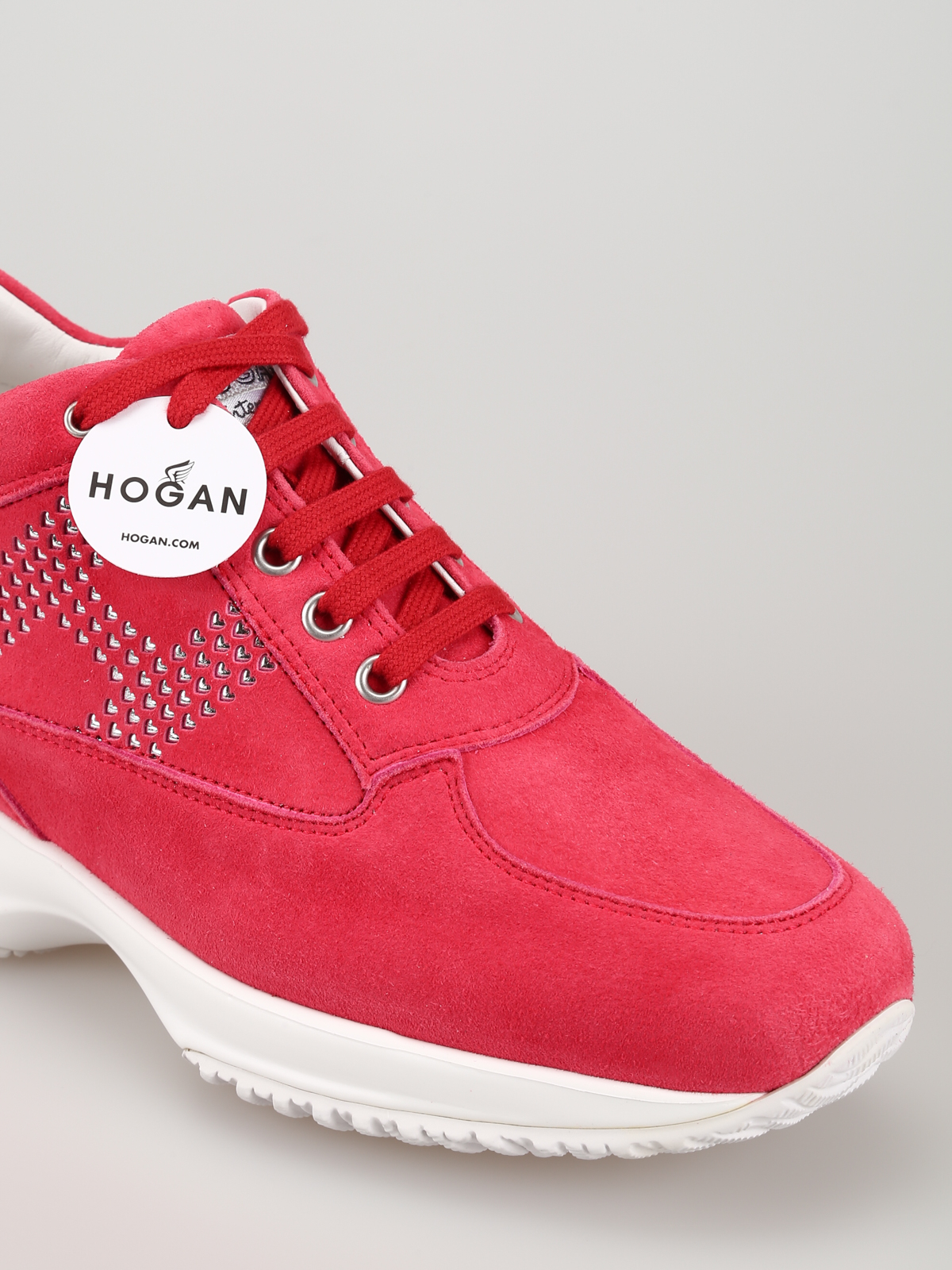 Hogan - Interactive heart H suede sneakers - trainers ...