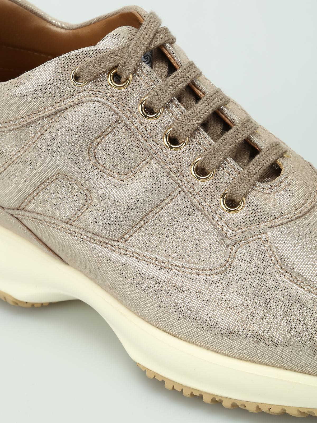Sneakers Hogan - Sneaker Interactive oro chiaro - HXW00N00010FEVG005