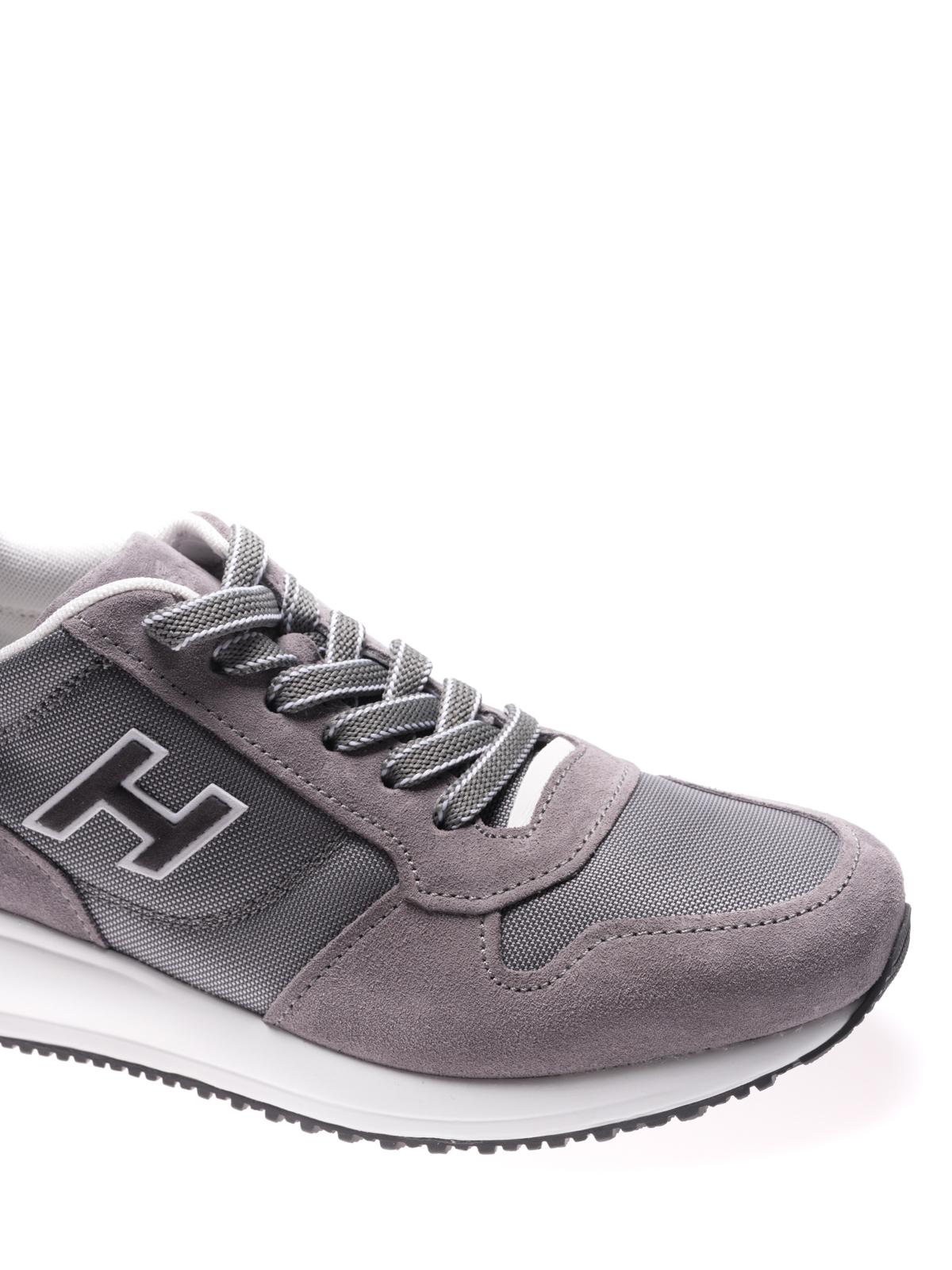 Sneakers Hogan - Interactive N20 in suede grigio - HXM2460Y790I9L413M