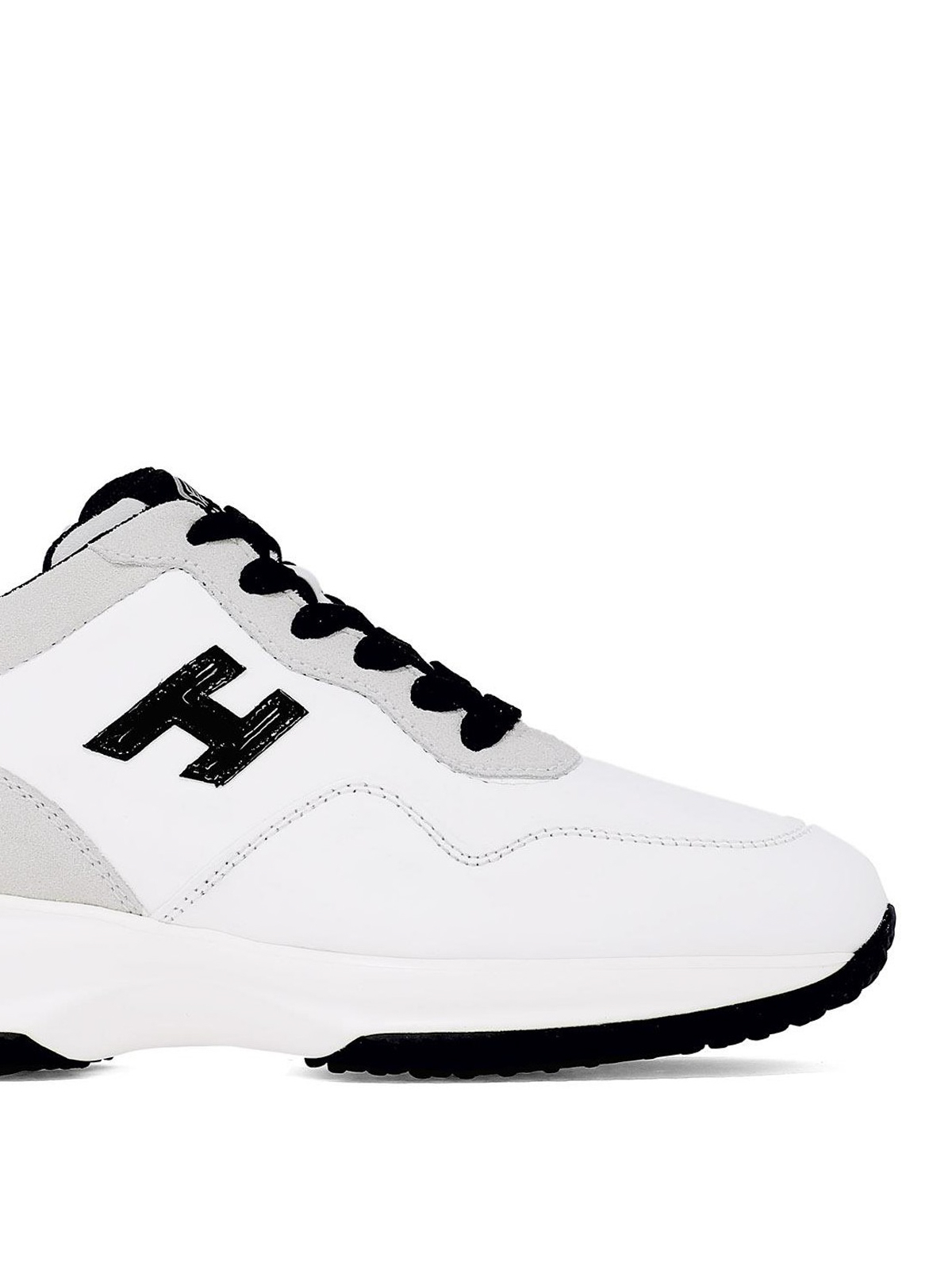 Sneakers Hogan - Interactive bianche con H in vernice nera ...