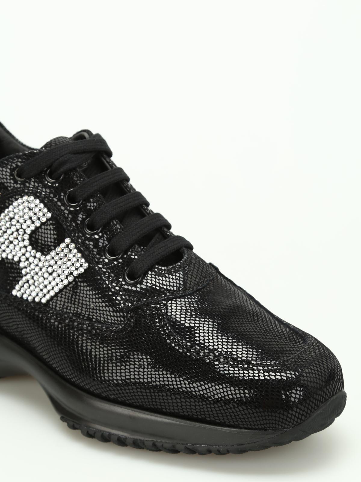 Sneakers Hogan - Interactive serpente H in strass - HXW00N02010H1SB999